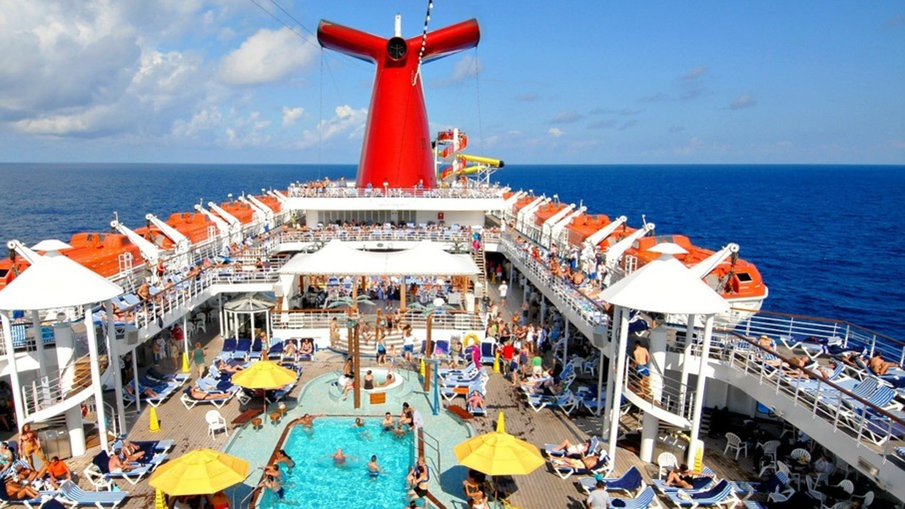 Carnival cruise topless deck