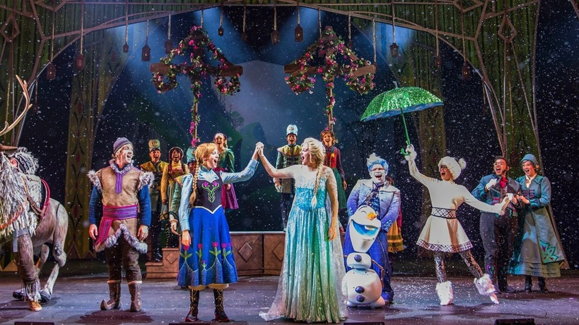 "Catch a musical adaption of hit movie ""Frozen"" on Disney Cruise Line."