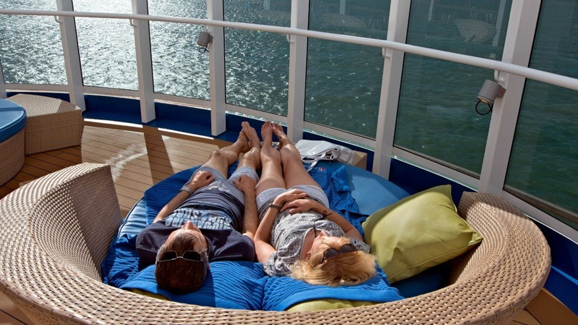 Relaxing on the Carnival Vista.