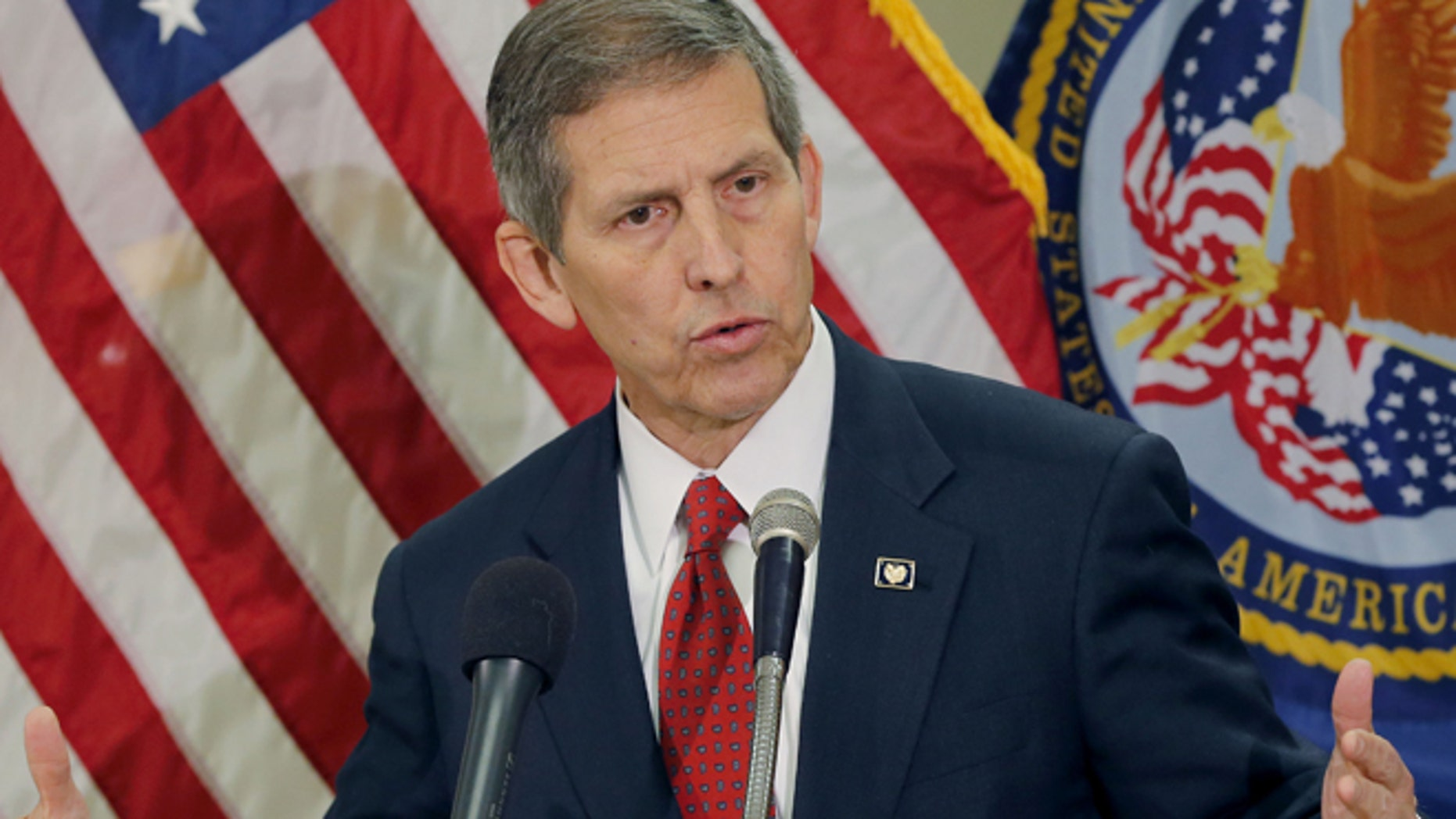 June 5, 2014: Acting Secretary of Veterans Affairs Sloan Gibson speaks in Phoenix.