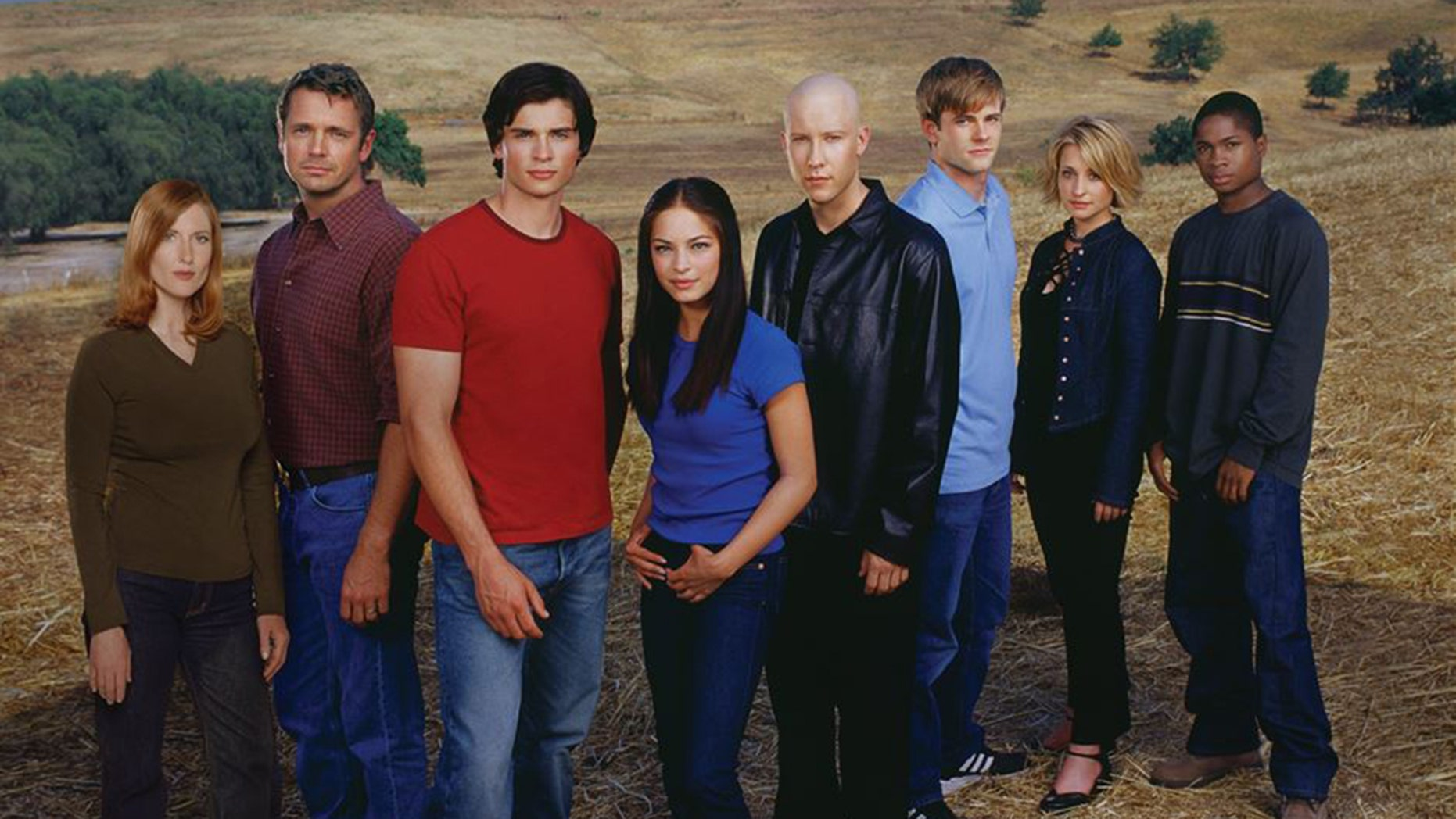 """The cast of """"Smallville."""""""