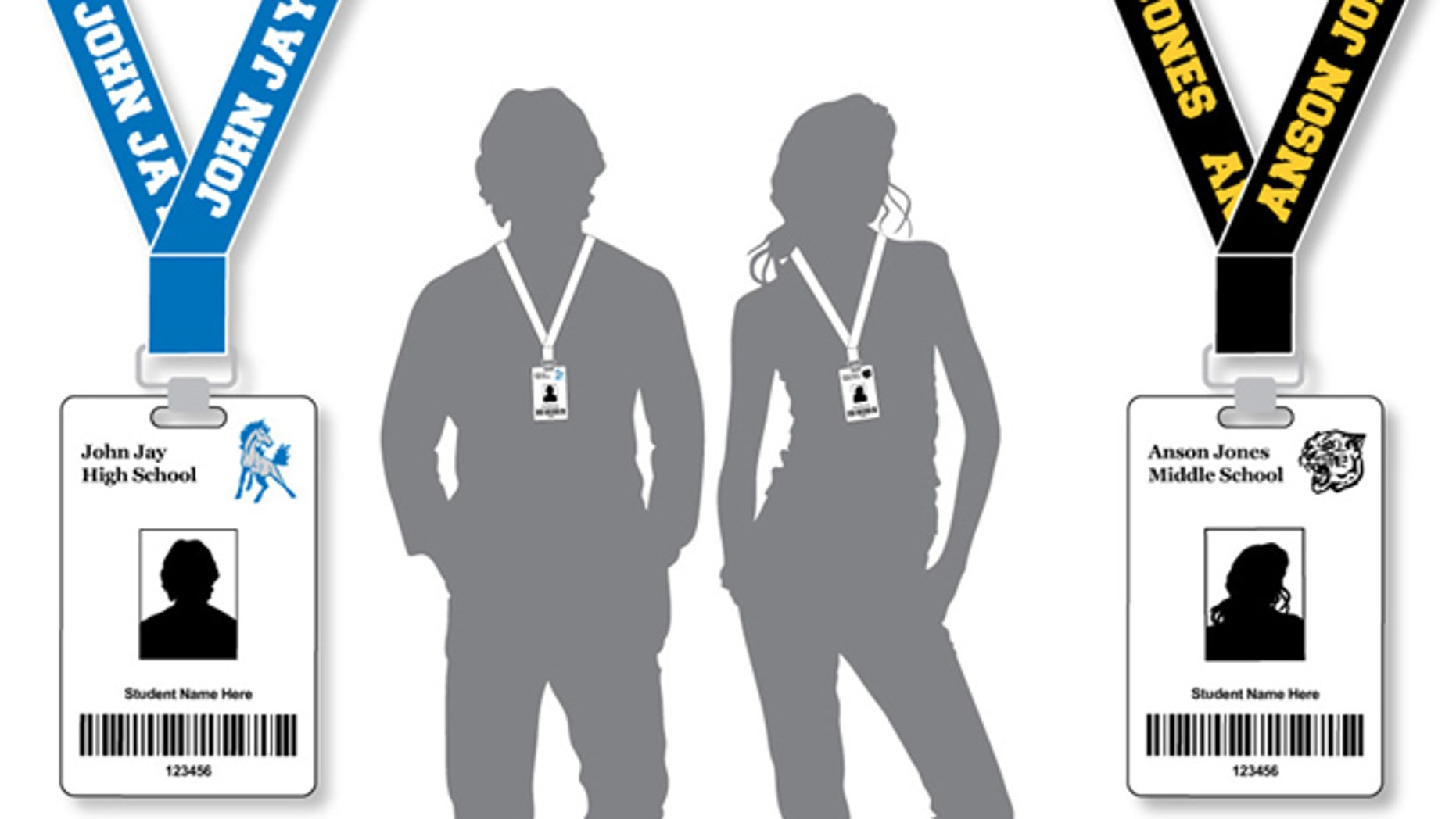 The card, which will be worn on a lanyard around each student's neck, will transmit location information via microchip to electronic readers throughout the campuses, NISD spokesman Pascual Gonzalez told FoxNews.com. (Courtesy: NISD)