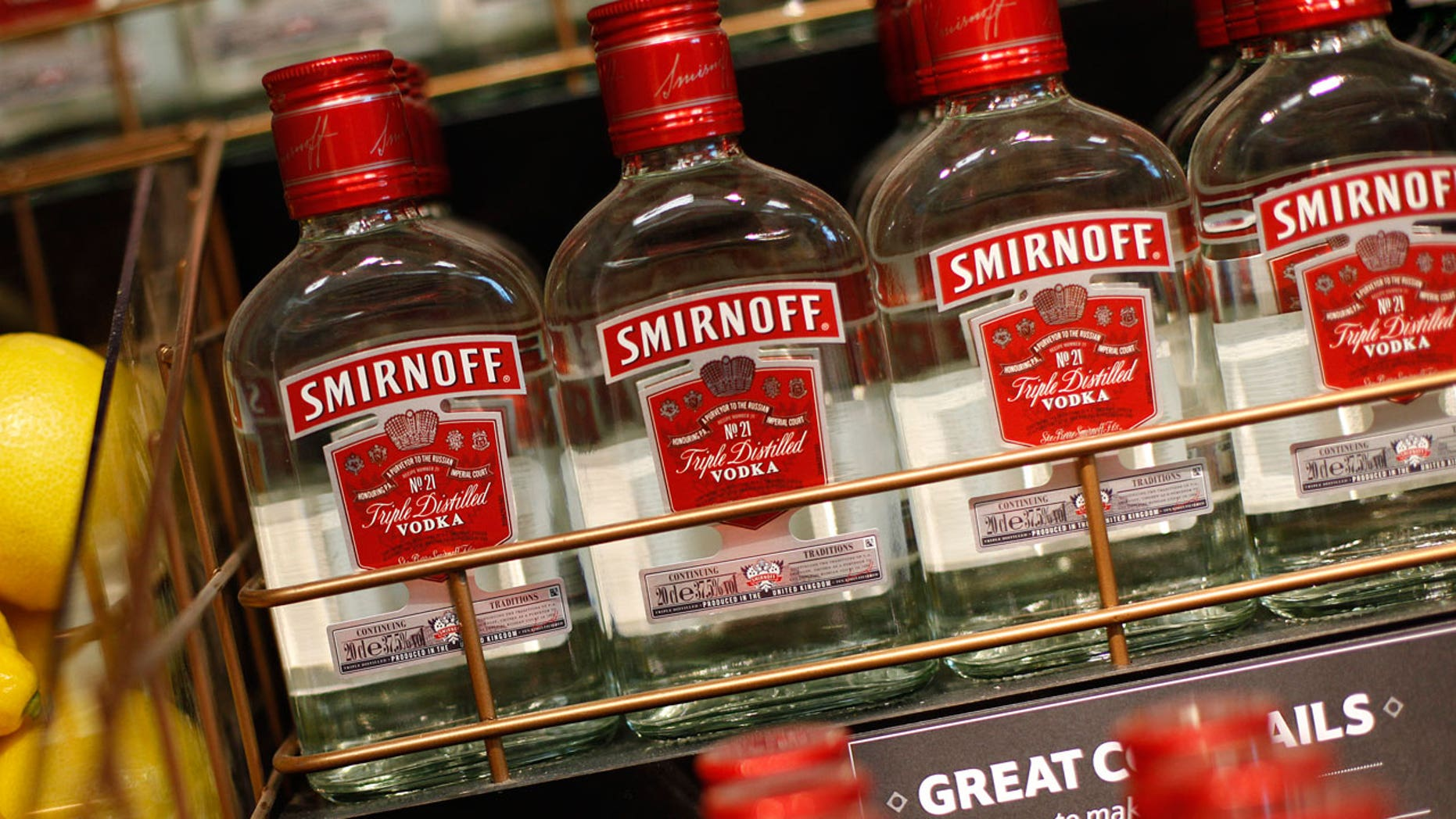 The makers of Smirnoff vodka are taking a jab at Trump.