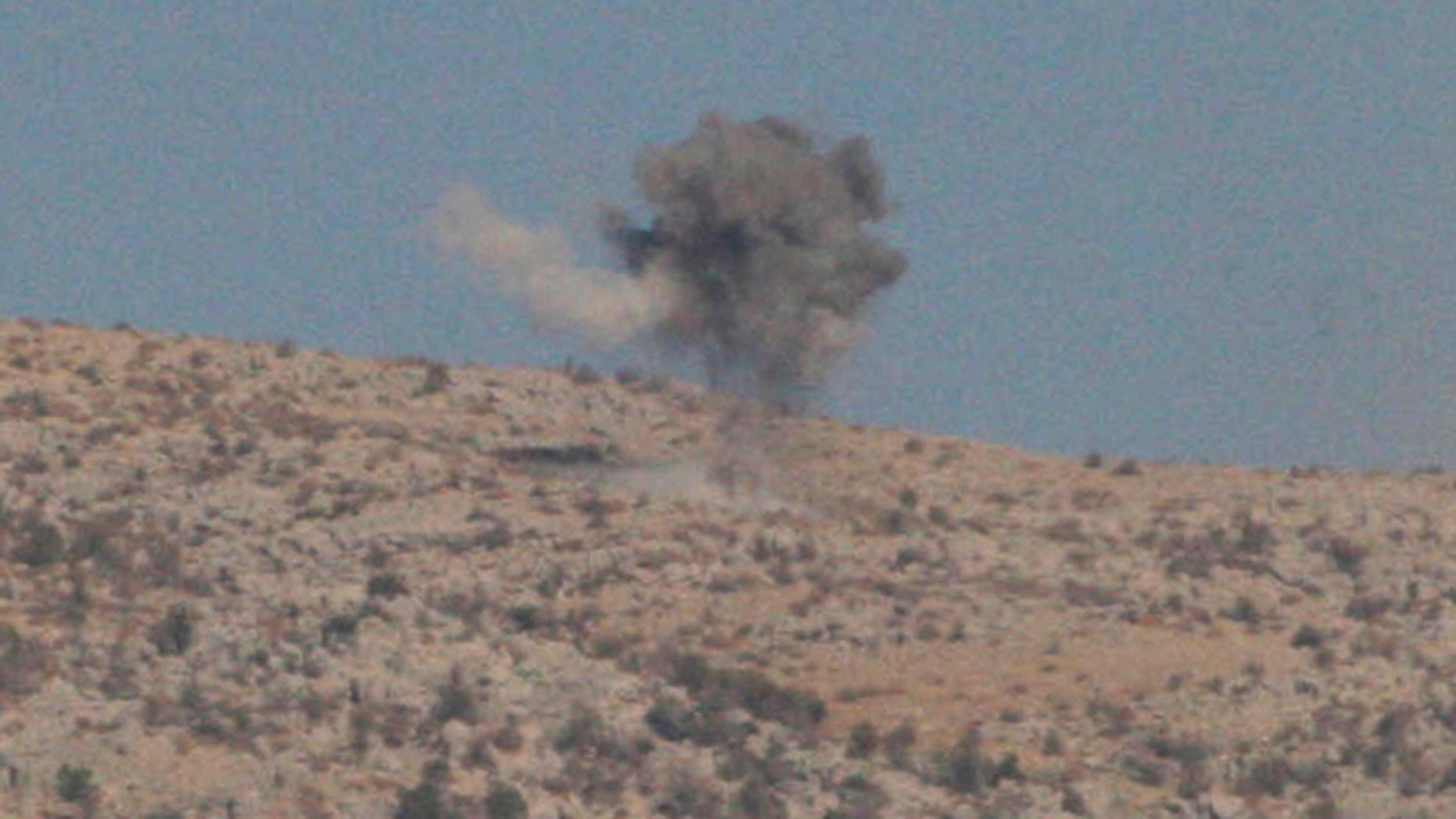 Oct. 7: Smoke rises from shelling by the Israeli army towards the Lebanese Kfar Shouba hills near the Lebanese-Israeli border, southern Lebanon.