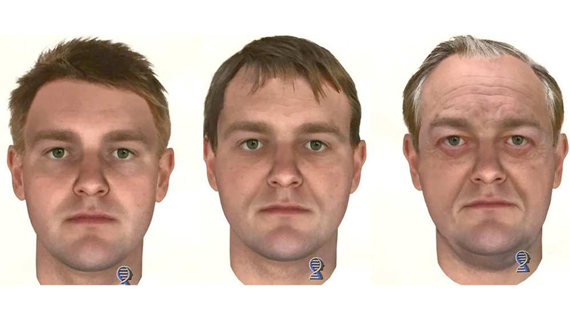 Washington state authorities investigating the 1987 cold case killings of a young Canadian couple released last week DNA composite images of the suspect and what he may have looked like in his 20s, 40s, and 60s.