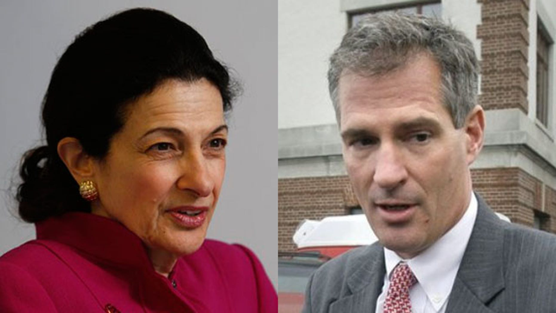 Shown here are Sen. Olympia Snowe, R-Maine, and Sen. Scott Brown, R-Mass. (AP Photos)