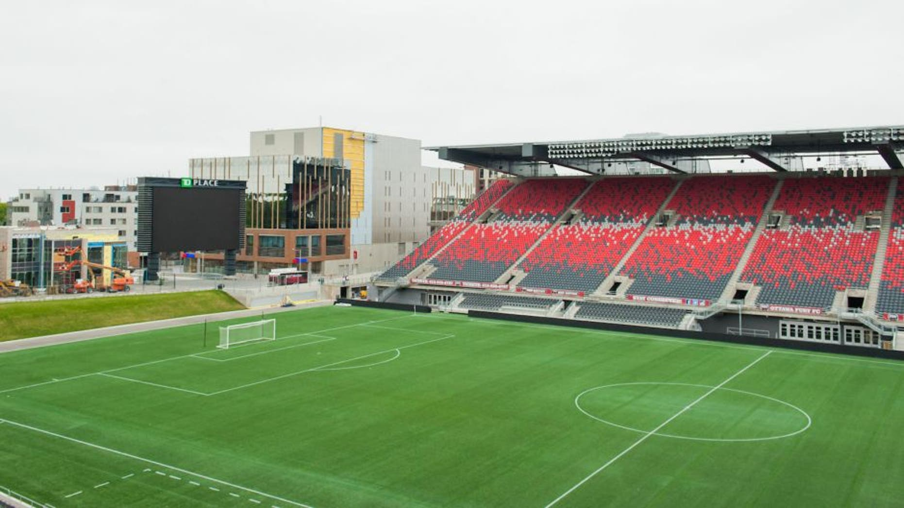 May 10, 2015; Ottawa, Ontario, Canada; TD Place Stadium is the home of the Ottawa Fury and will be the venue used for the FIFA Women's World Cup throughout the month of June 2015. Mandatory Credit: Marc DesRosiers-USA TODAY Sports