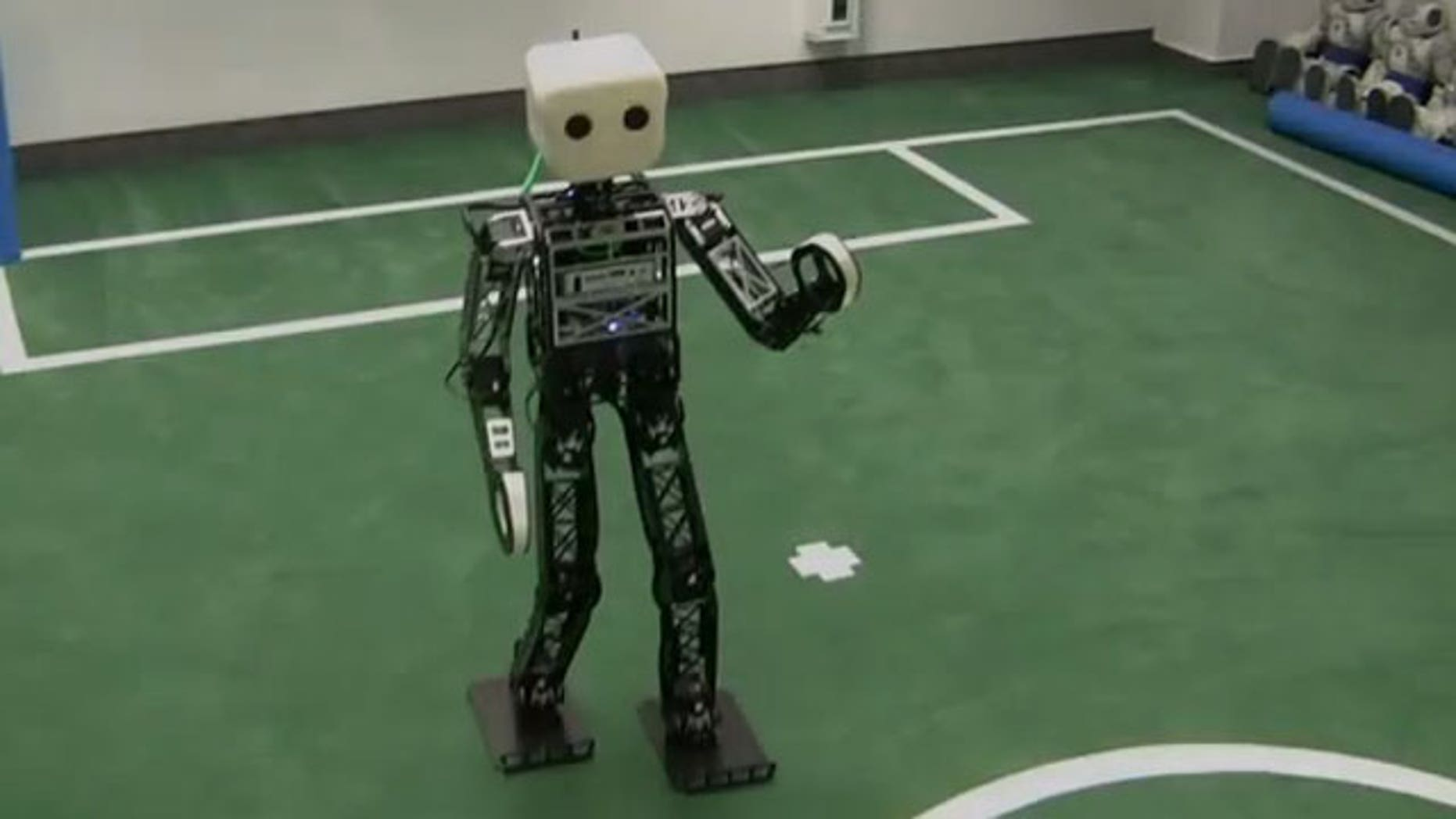 The NimbRo is the reigning world champion in robot soccer.
