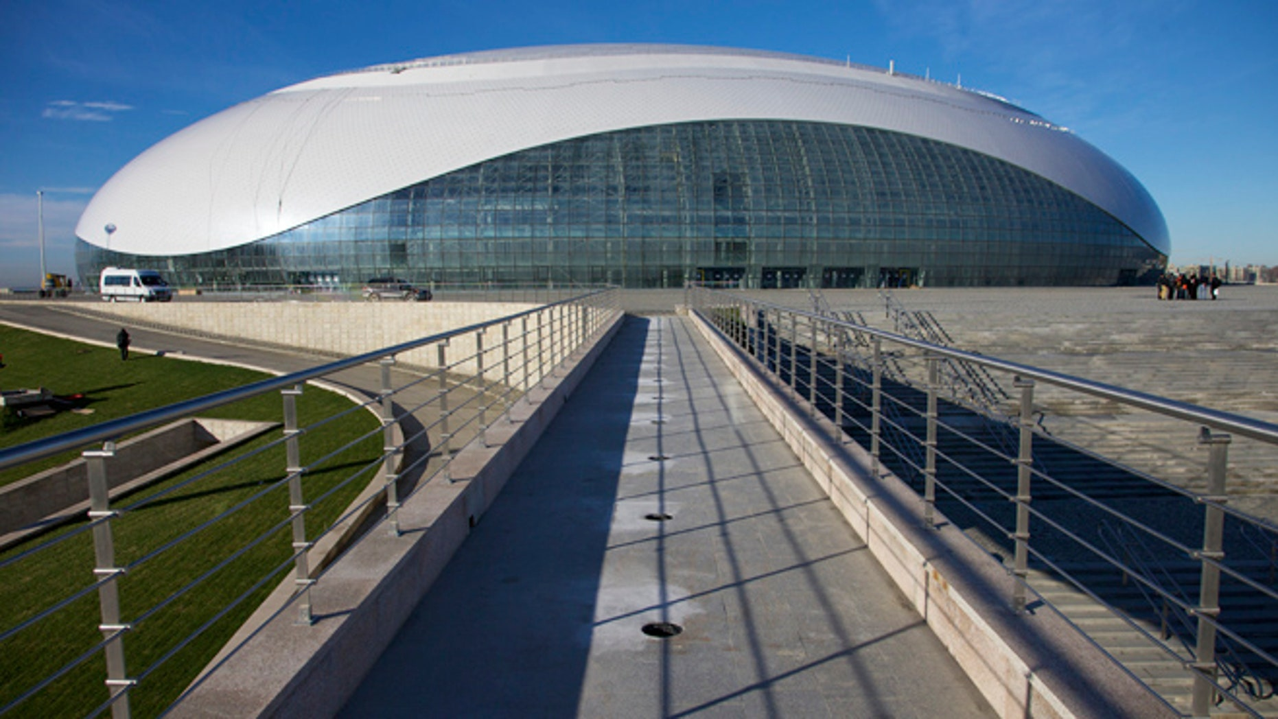 Dec. 9, 2012: This file photo, shows an exterior view of the Bolshoi ice dome, the main ice hockey arena, at the Black Sea resort of Sochi, Russia.