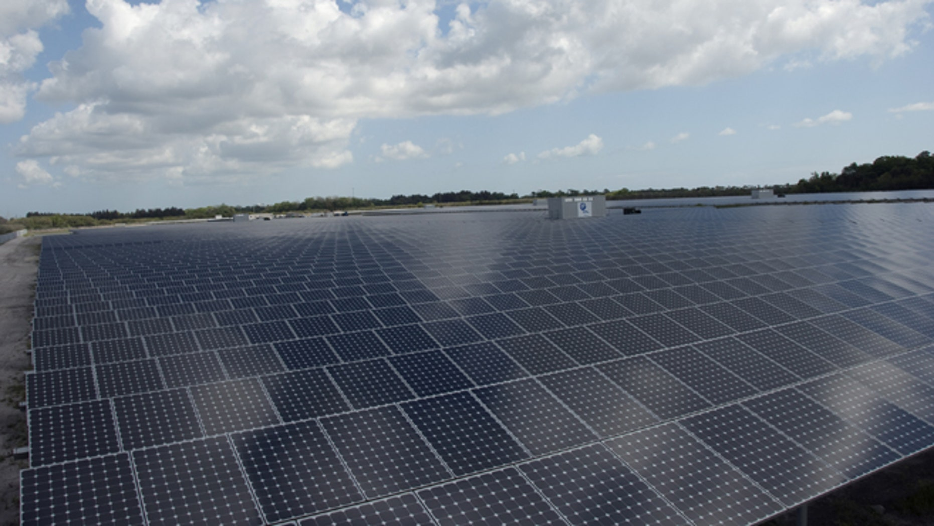 Apple is planning on building a solar farm in Reno, NV similar to this one off of State Road 3 at NASA's Kennedy Space Center in Florida.