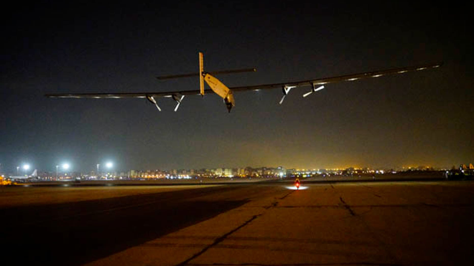 Solar Impulse took off from Cairo, and is headed toward Abu Dhabi for its final leg on the Round The World journey. Credit: Solar Impulse/Revillard