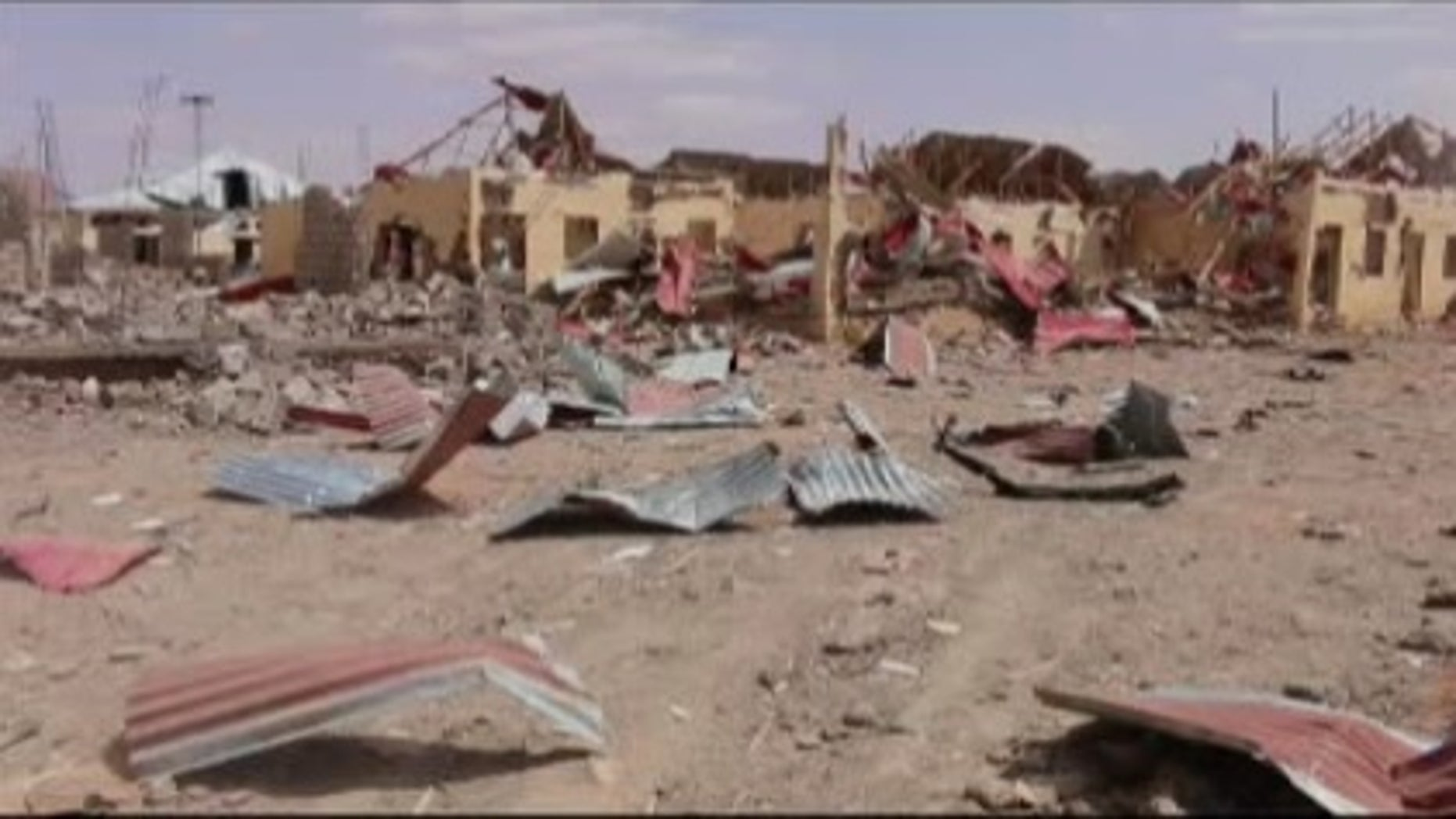 The site of one of the explosions in Somalia.
