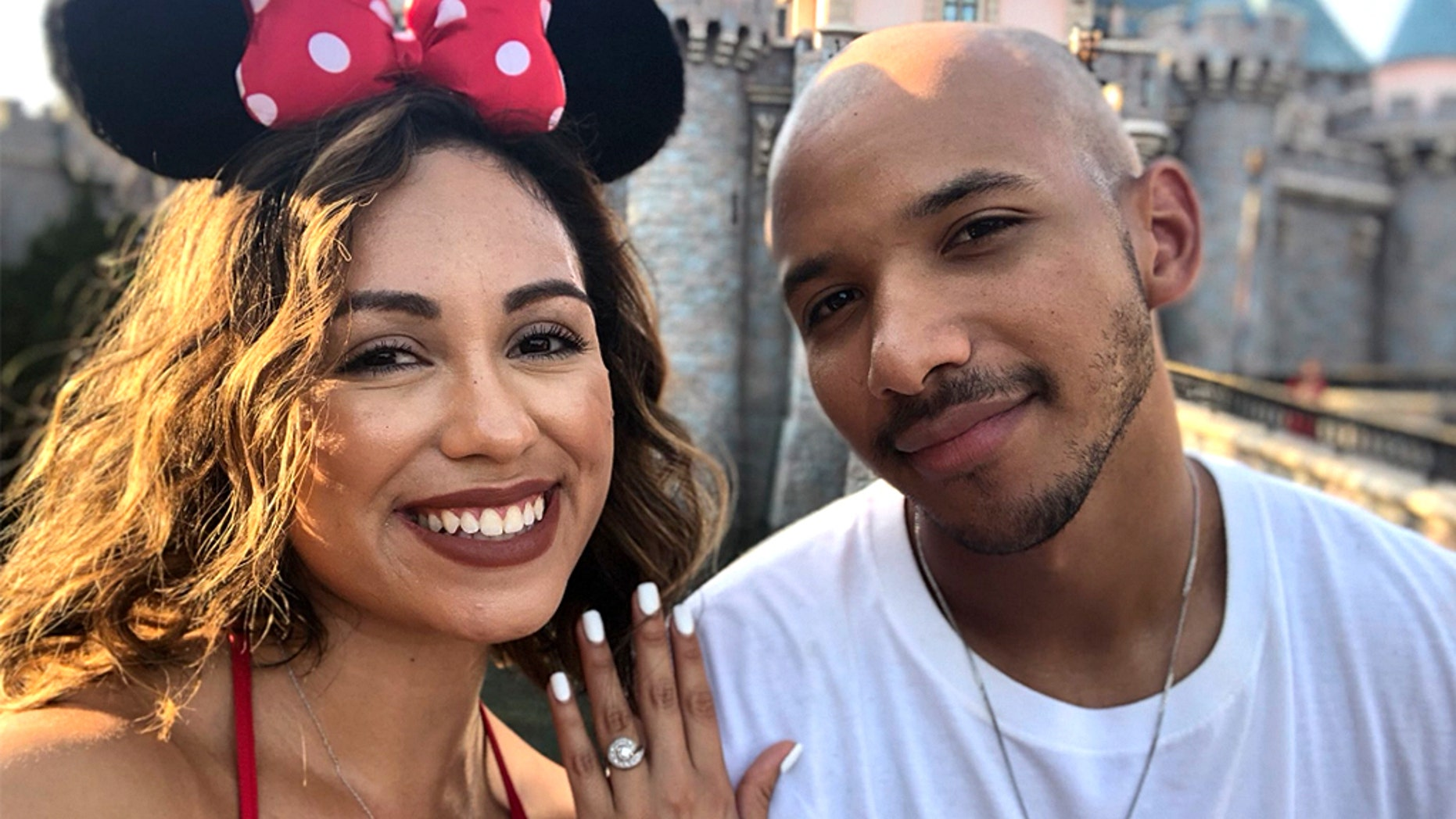 The pair got engaged at Disneyland and their pictures are going viral.