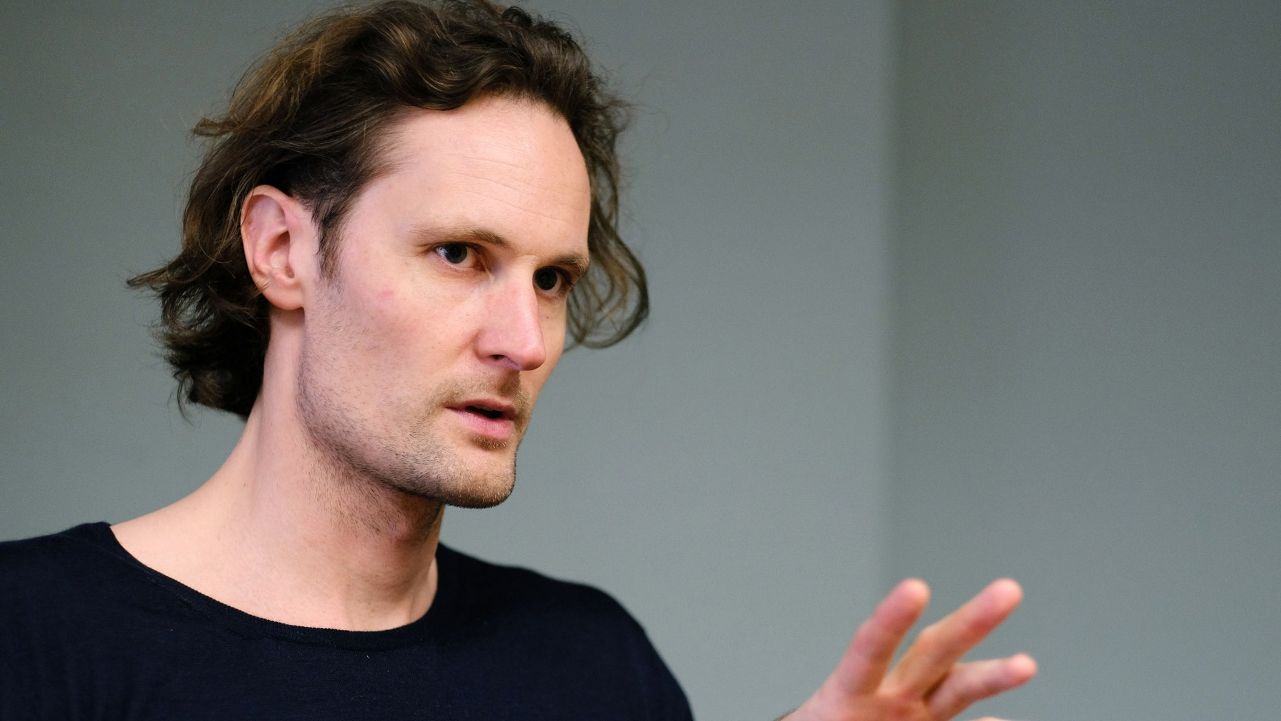 In this March 22, 2016, photo, Eric Wahlforss, the co-founder and chief technology officer of Soundcloud, talks during an interview in Los Angeles. Soundcloud is entering paid music streaming, hoping to turn its huge community of cover singers, dubstep remixers and wannabe stars into a bigger source of revenue. Soundcloud will have a staggering 125 million tracks available when the paid tier, Soundcloud Go, launches Tuesday, March 29, about four times that of other paid services. (AP Photo/Richard Vogel)