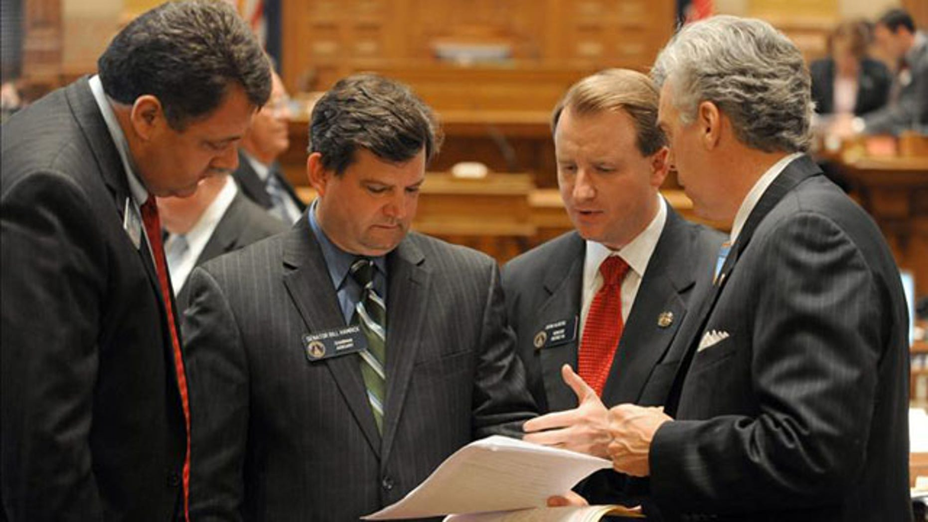 Republican Sens. Steve Gooch, Bill Hamrick, John Albers and Judson Hill, supporters of South Carolina's immigration law. EFE/FILE