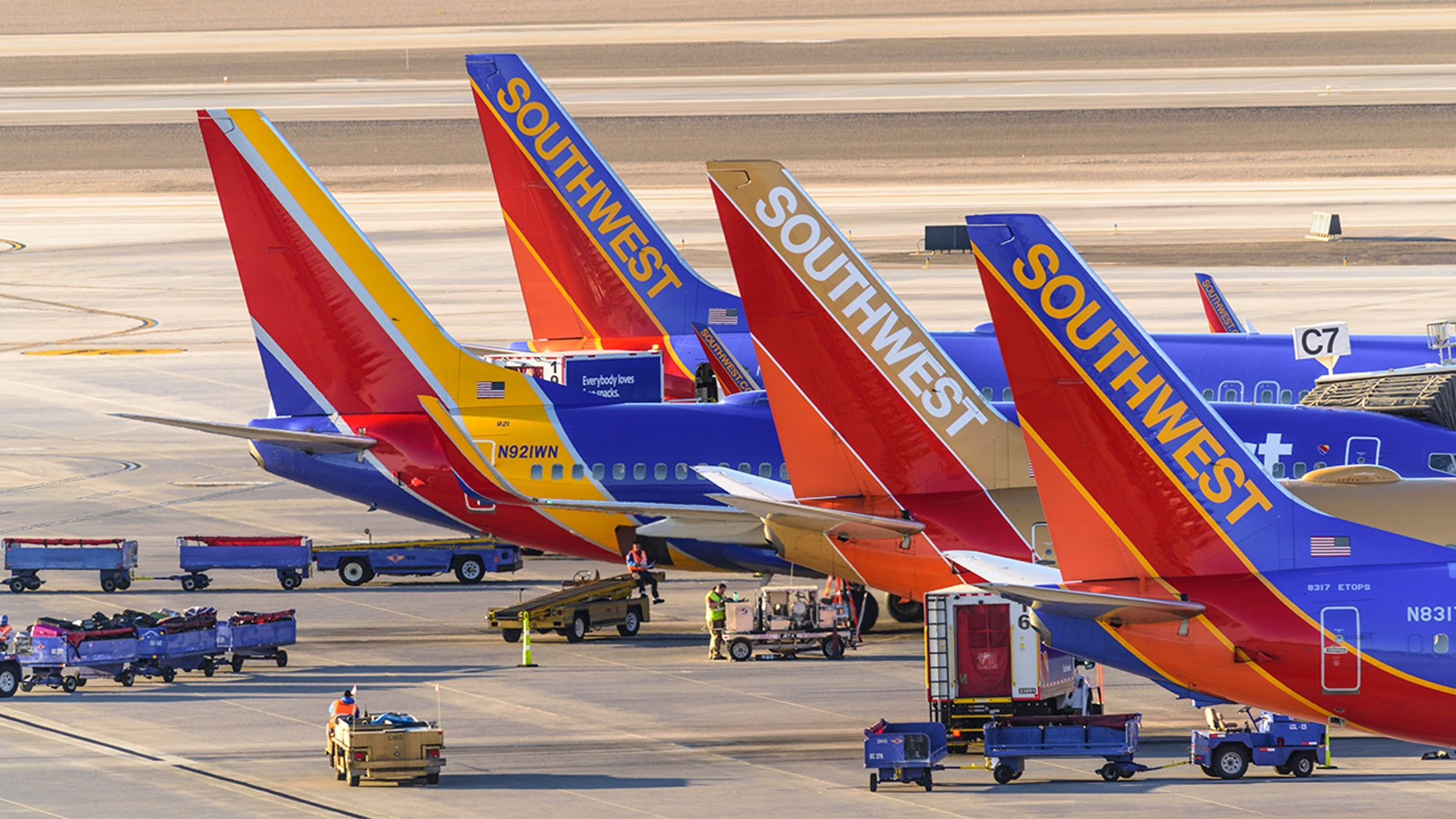 A former Southwest employee is suing for damages.