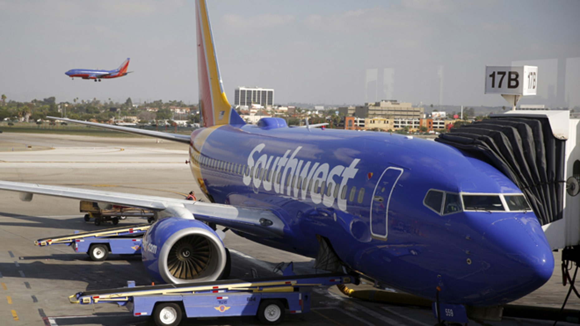 Southwest Airlines planes are seen at LAX airport in Los Angeles, California, United States