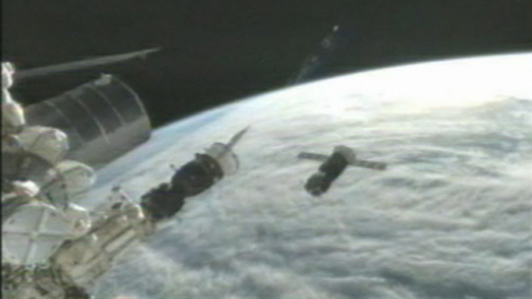 An unmanned Russian Progress 47 cargo ship used to test an upgraded automated docking system for the International Space Station failed to couple with the space base.
