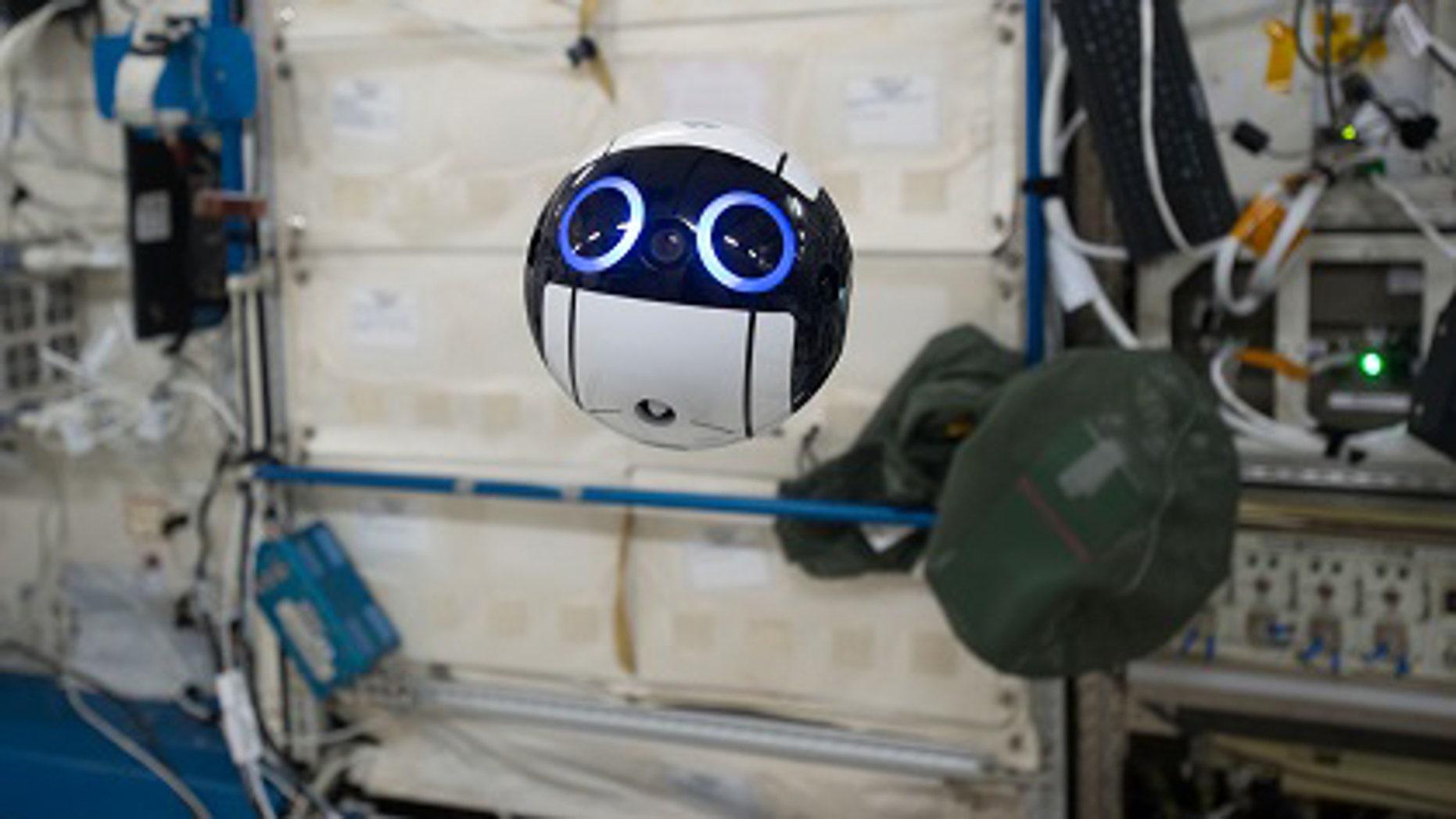 JEM Internal Ball Camera taking a video(Credit:JAXA/NASA)
