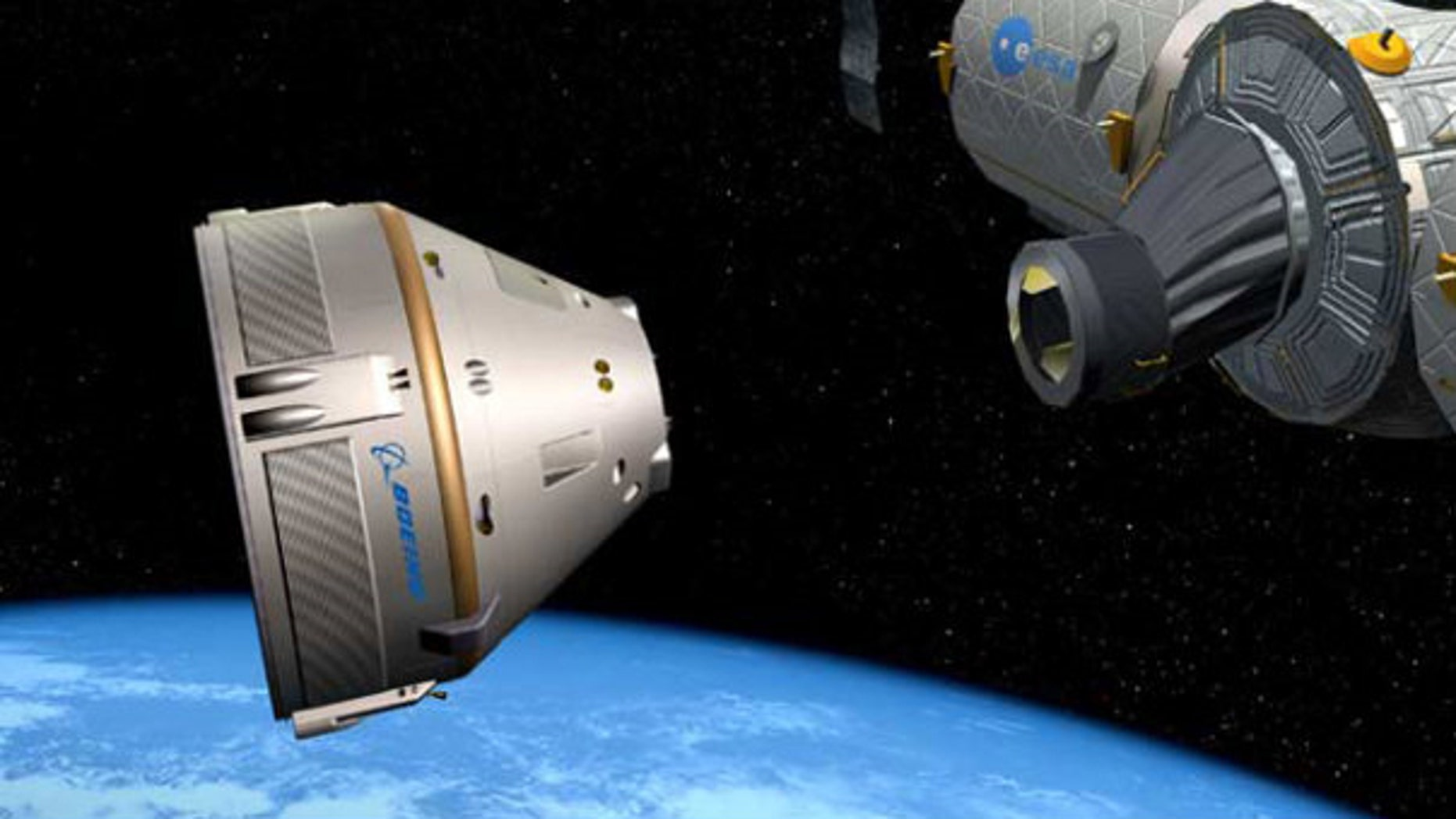 NASA could be supportive of commercial private spacecraft that transport clients into space such as this capsule designed by Boeing.