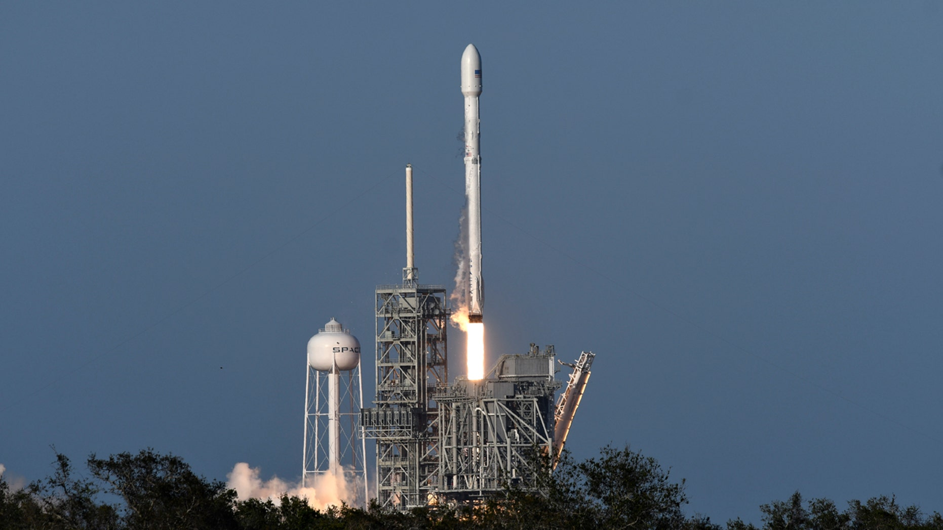 A SpaceX Falcon 9 rocket lifts off from Kennedy Space Center in Cape Canaveral, Fla., Thursday, March 30, 2017.