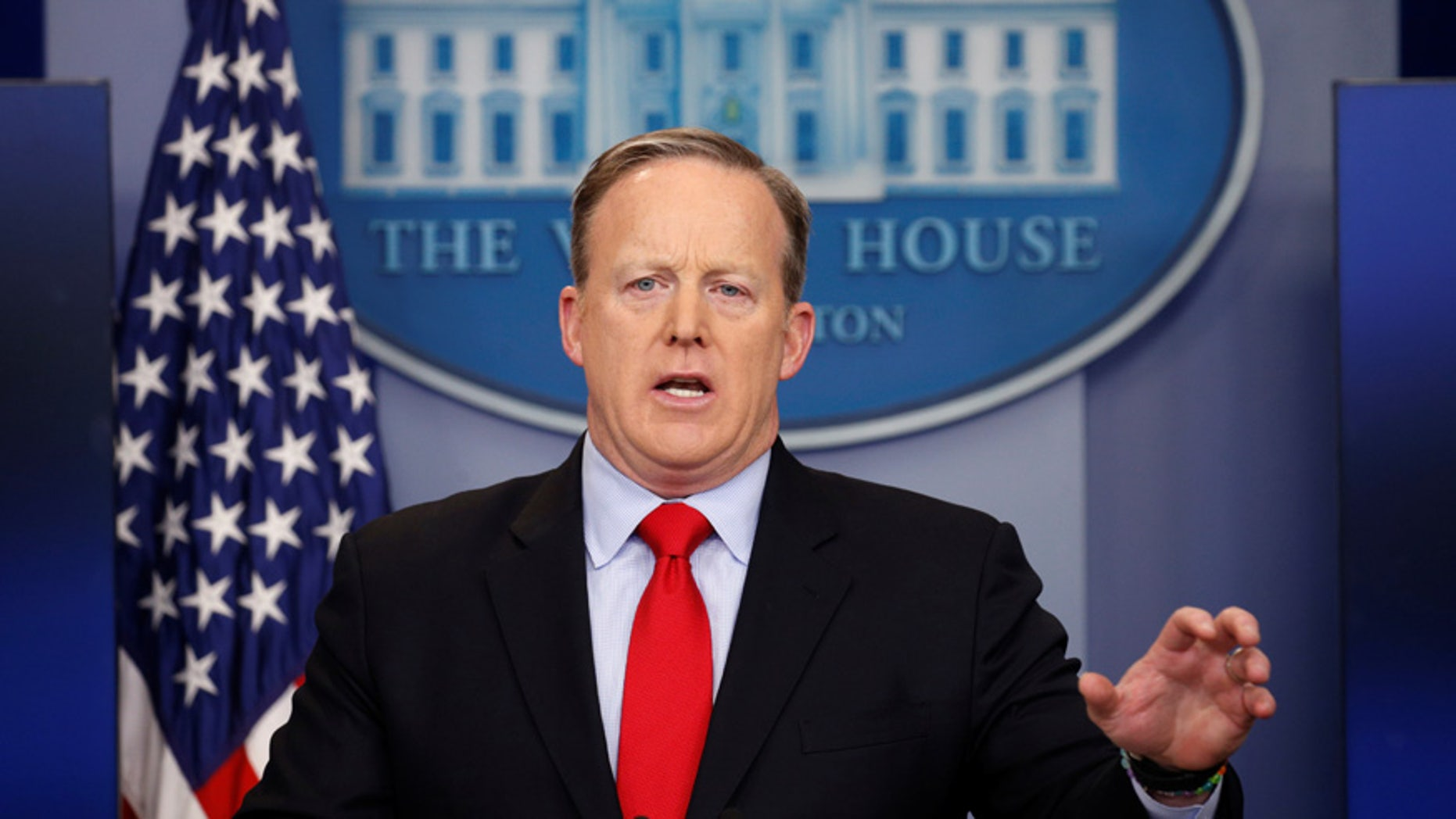 White House spokesman Sean Spicer holds a press briefing at the White House in Washington, U.S., February 3, 2017. (REUTERS/Kevin Lamarque)