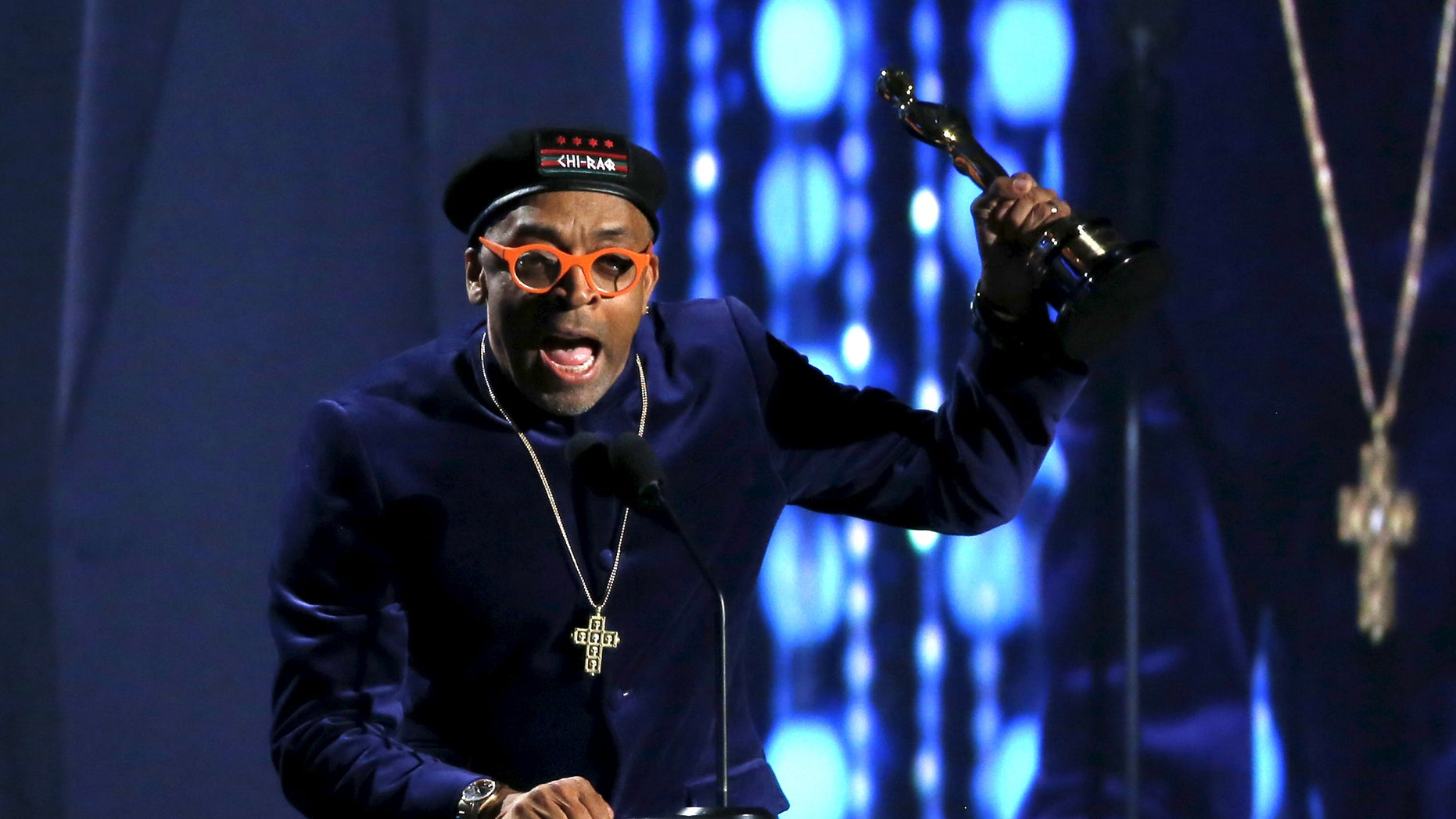 November 14, 2015. Director Spike Lee accepts an Honorary Award at the 7th Annual Academy of Motion Picture Arts and Sciences Governors Awards at The Ray Dolby Ballroom in Hollywood, California.