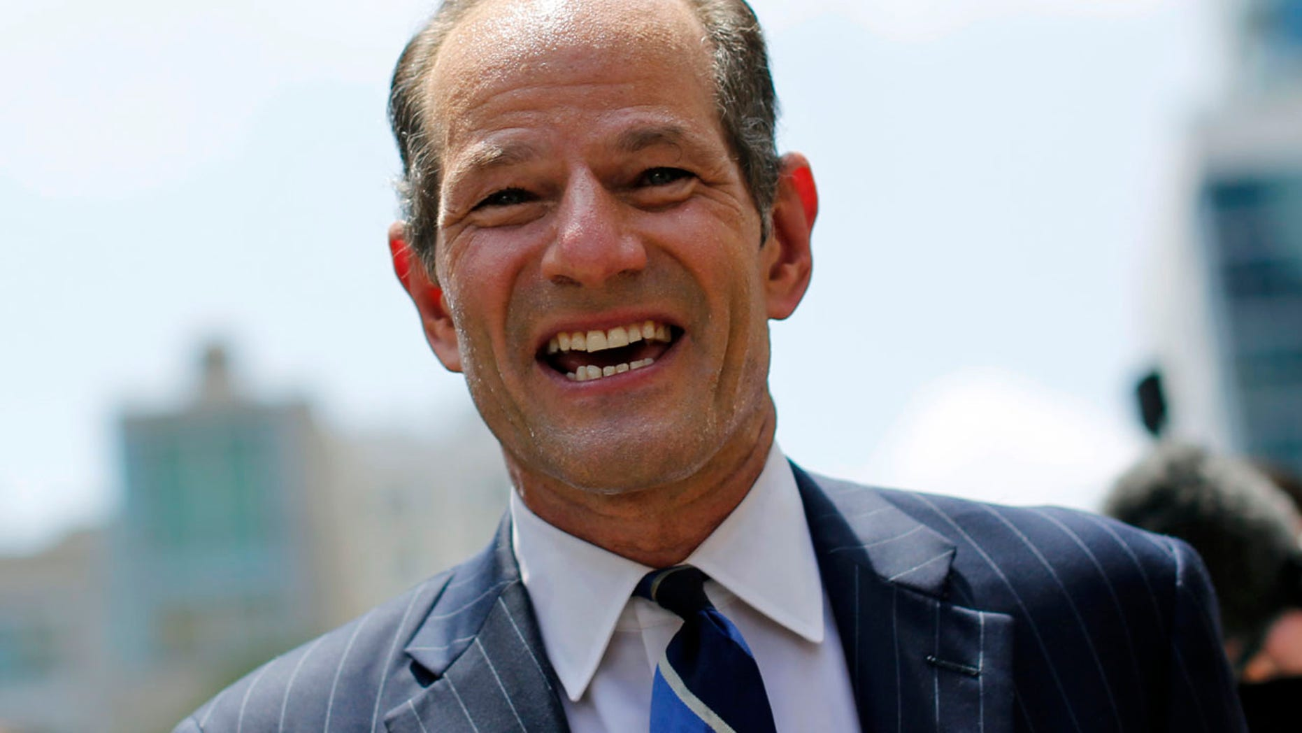 FILE 2013: A spokeswoman for disgraced former Gov. Eliot Spitzer said he did not make any threats during an argument at an New York restaurant.