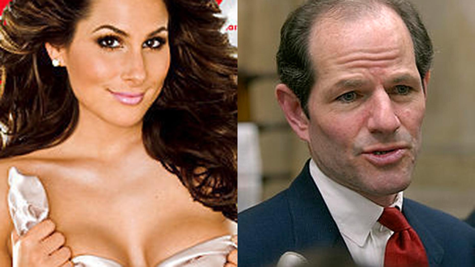 Ashley Dupre and Eliot Spitzer. (Playboy/AP)