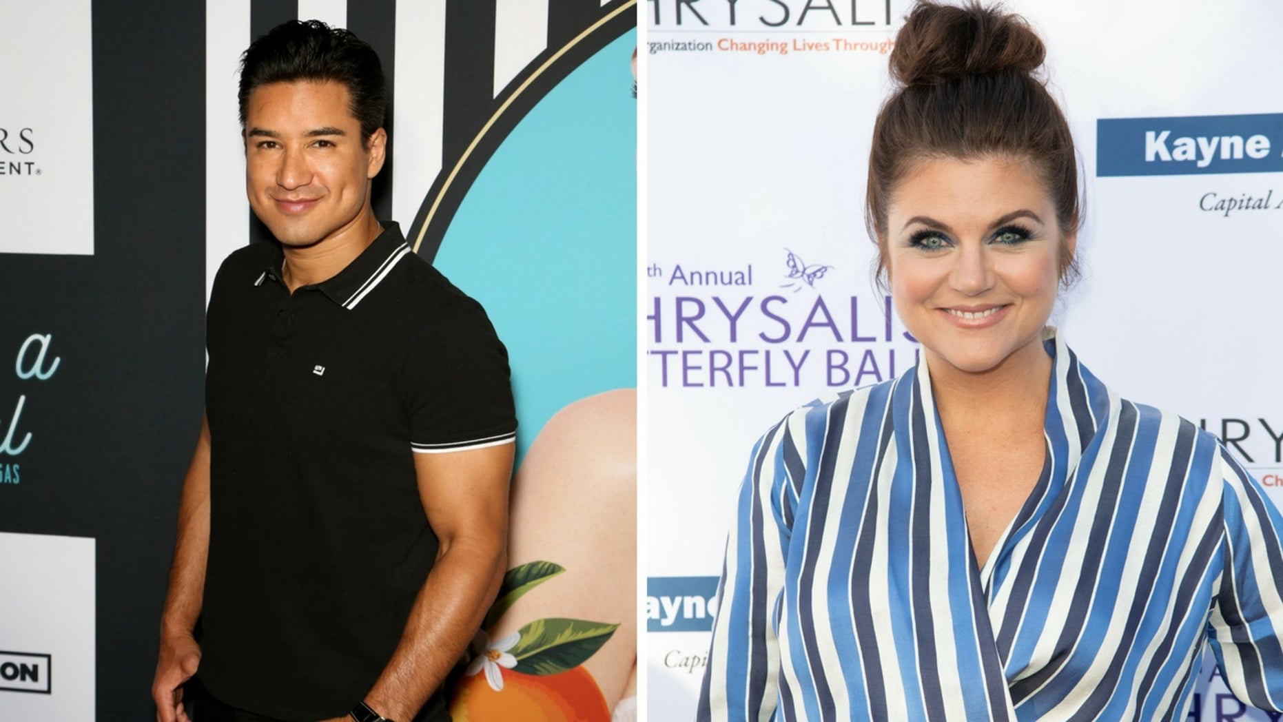 """""""Saved by the Bell"""" alums Mario Lopez and Tiffani Thiessen said their children watched the show that made them stars."""