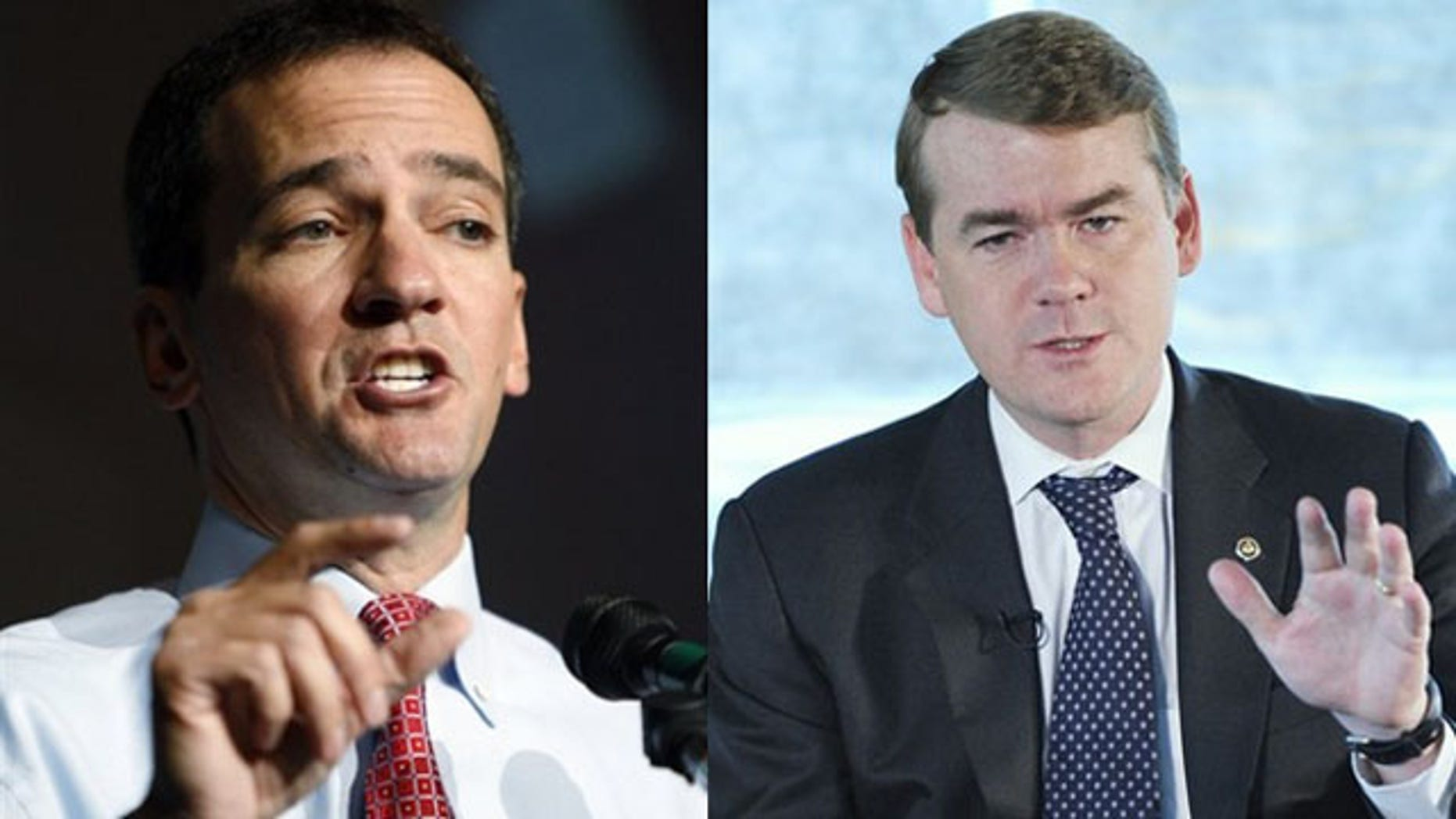 The Senate primary race between Democrat Andrew Romanoff, (l), and Sen. Michael Bennet,(r) is just one of several on Tuesday, August 10, 2010. (AP)