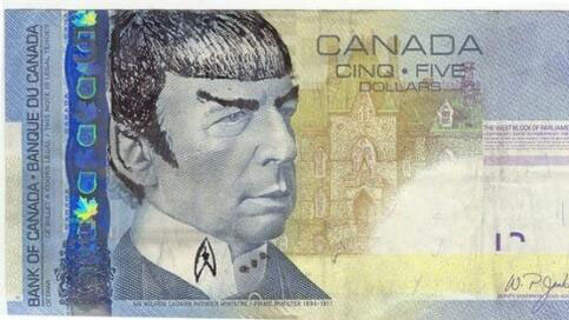 Star Trek fans alter Sir Wilfrid Laurier's face to resemble that of Leonard Nimoy's 'Spock'