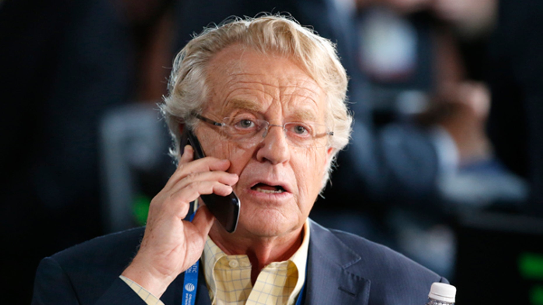 Television personality Jerry Springer at the Democratic National Convention in Philadelphia, Pennsylvania, U.S. July 25, 2016.