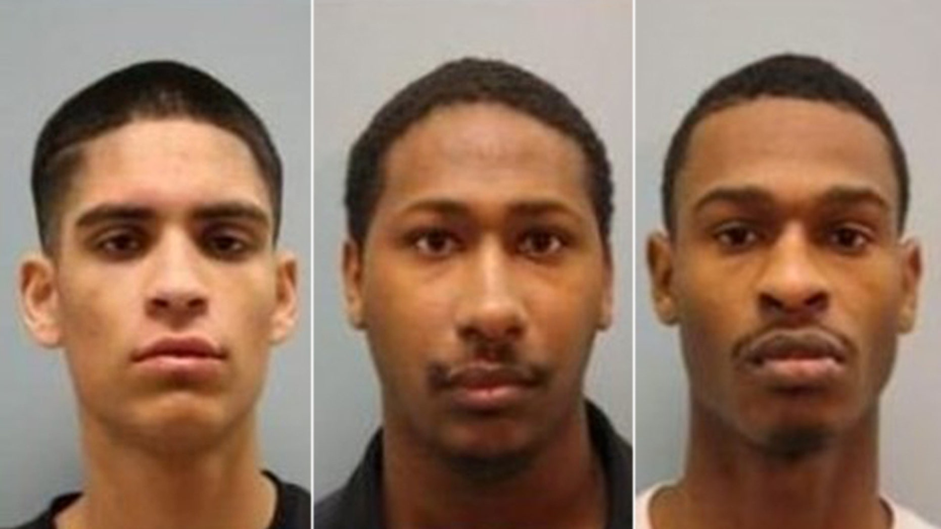 Pictured from left to right, Erick Peralta, Aakiel Kendrick, and Khari Kendrick, were arrested and charged with capital murder in the deaths of Bao and Jenny Lam.