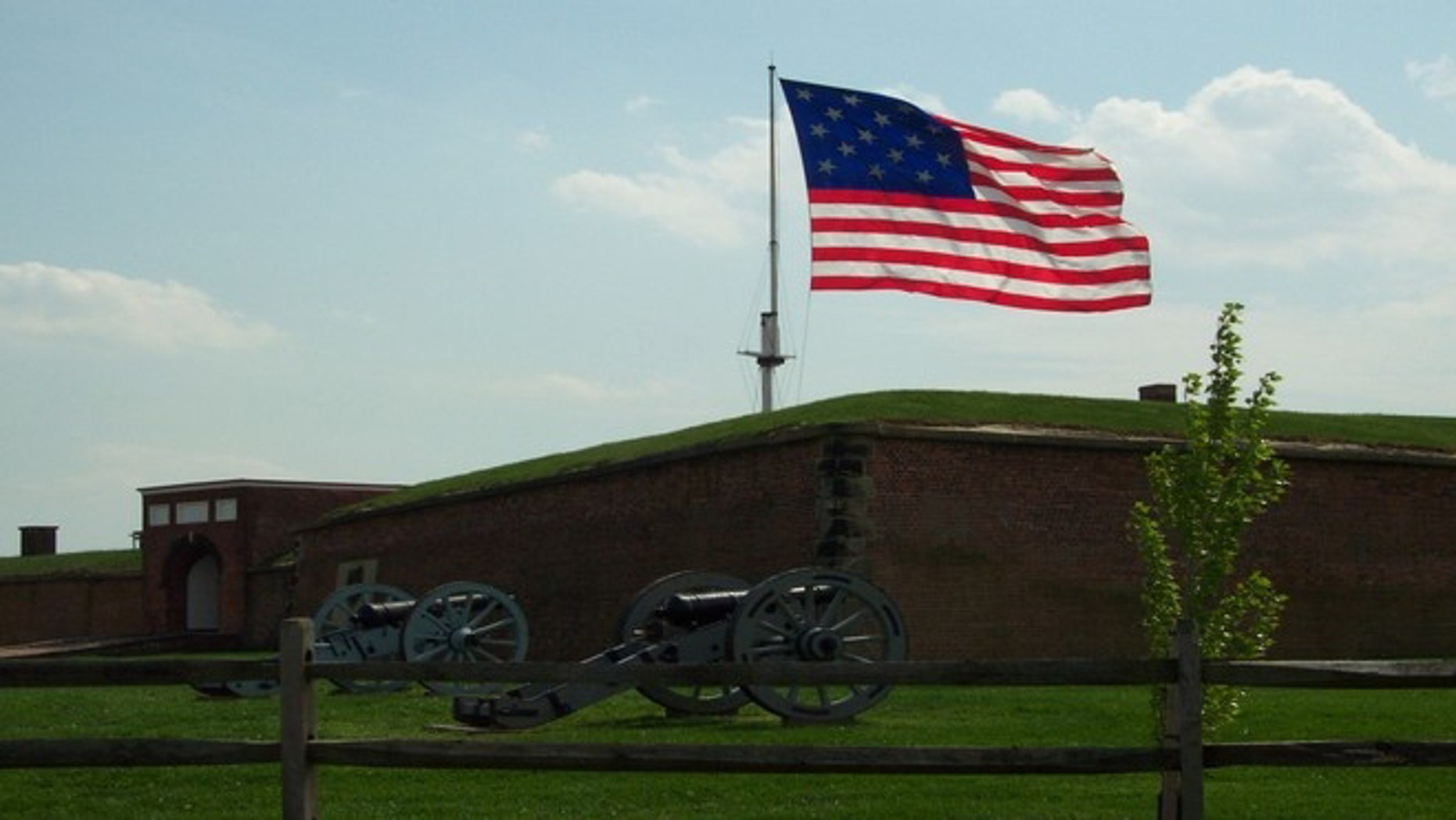 The Star-Spangled Banner over Fort McHenry