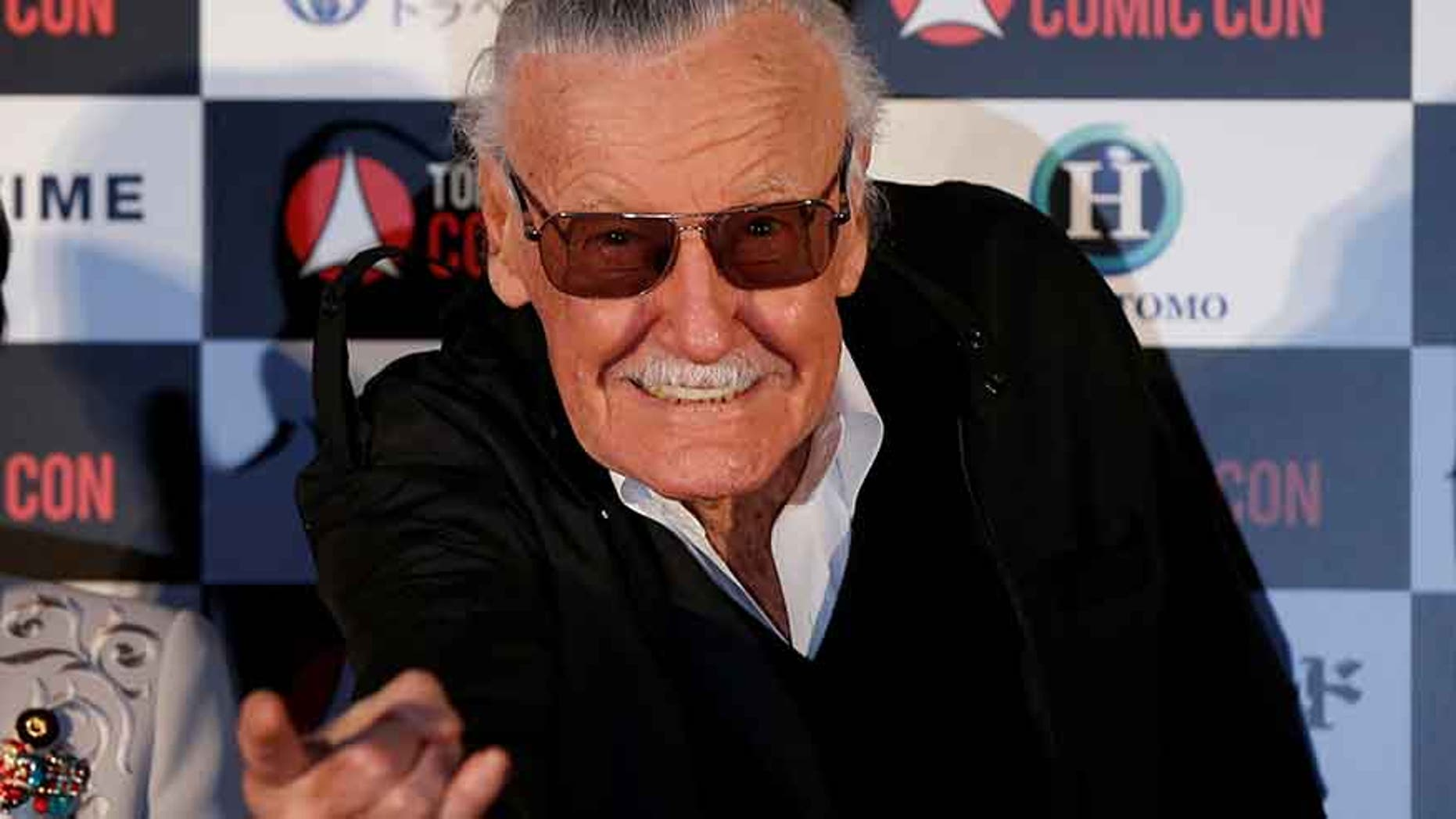 Stan Lee, comic book legend, attends an opening ceremony of Tokyo Comic Con  at