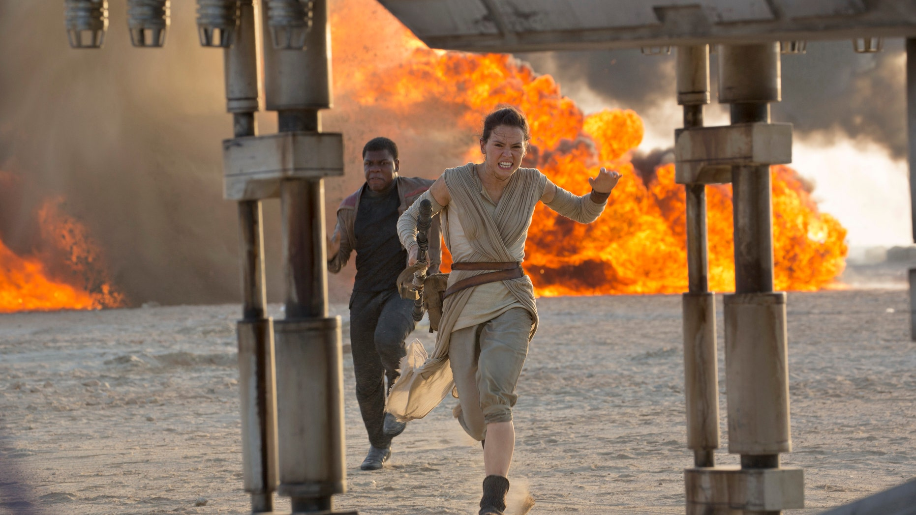 """A scene from the film, """"Star Wars: The Force Awakens,"""" directed by J.J. Abrams."""