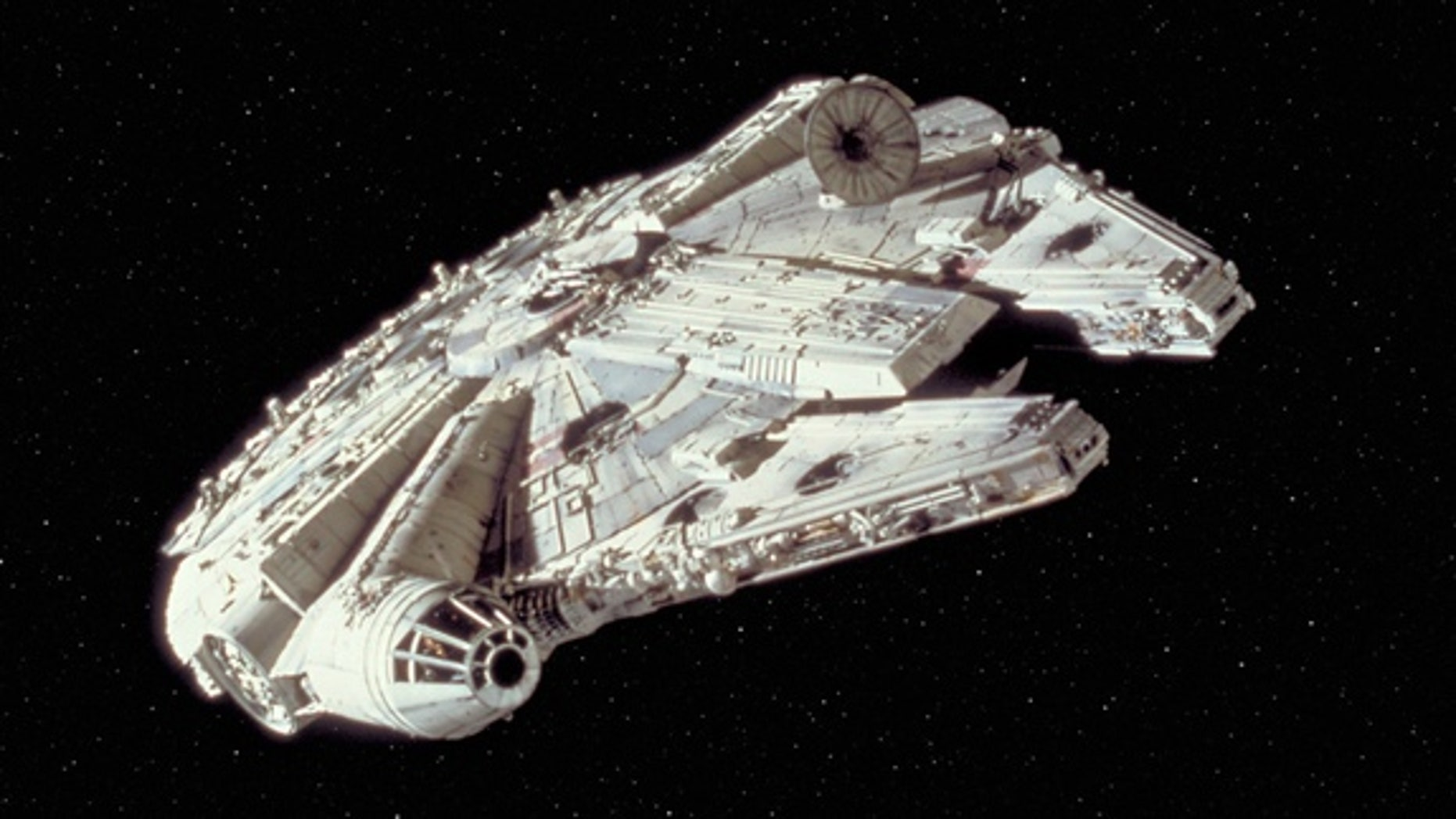"""The Millennium Falcon in """"Star Wars Episode IV: A New Hope."""""""