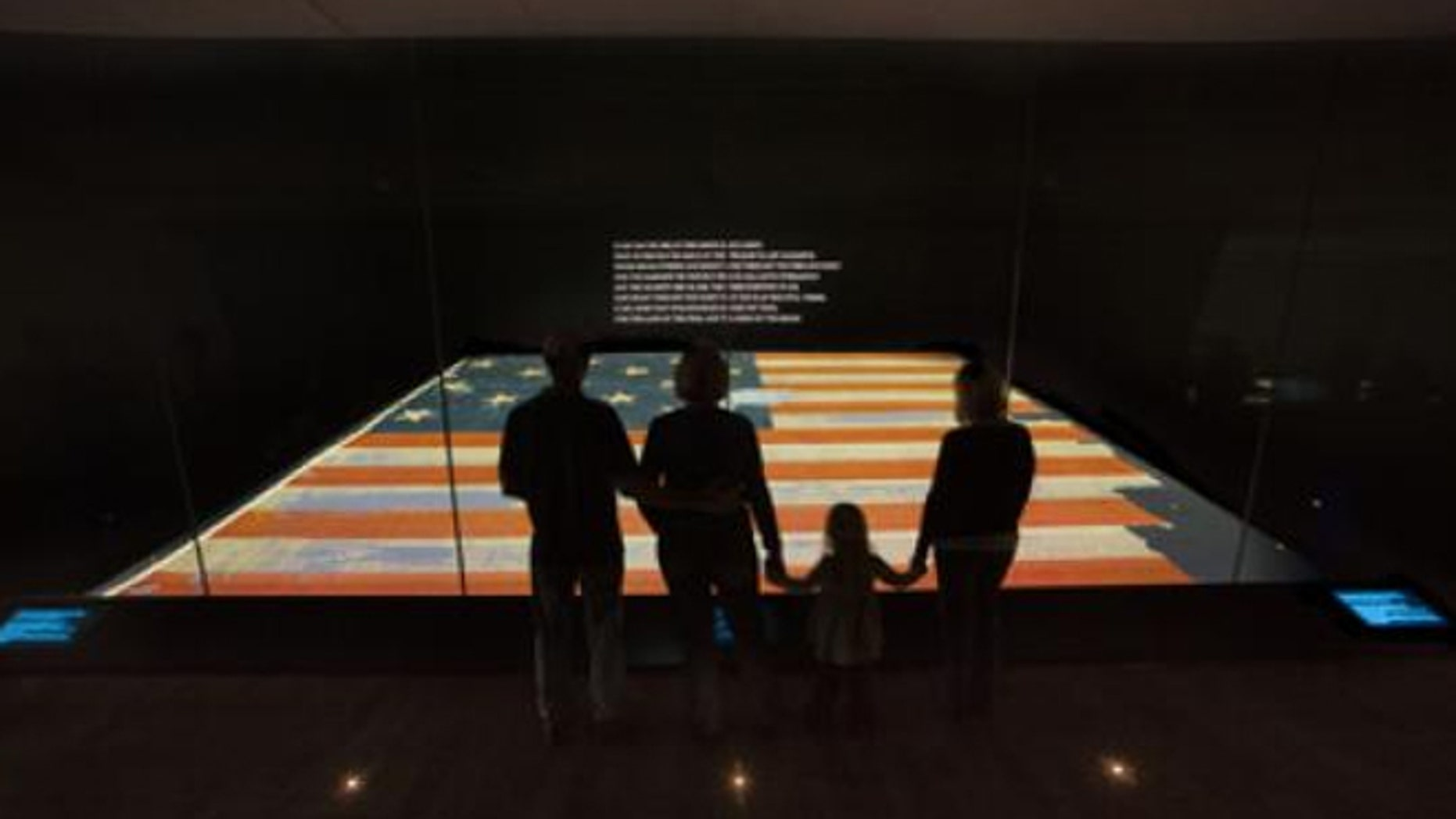 The National Museum of American History has the flag that inspired the national anthem on display.