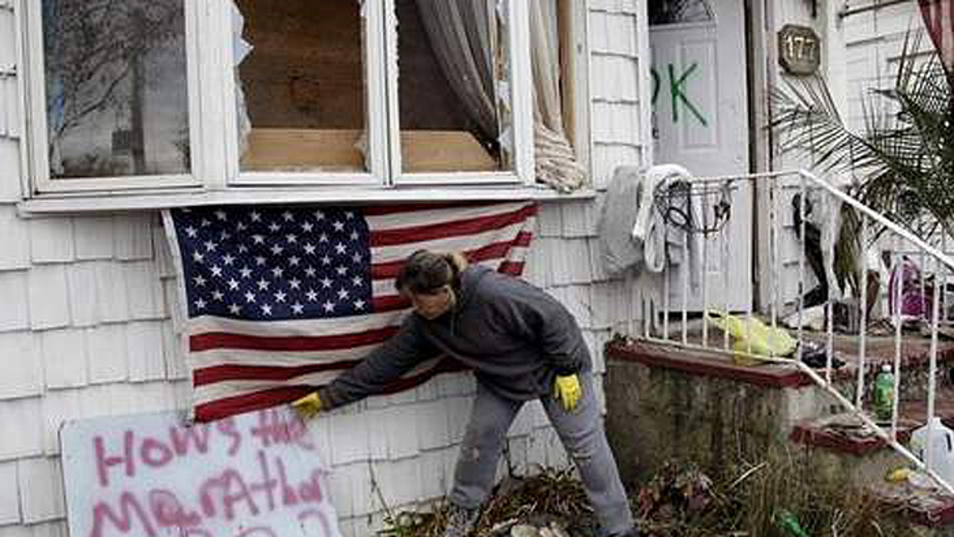 How much can they take? Staten Islanders still digging out from superstorm Sandy now face a new weather threat. (AP)