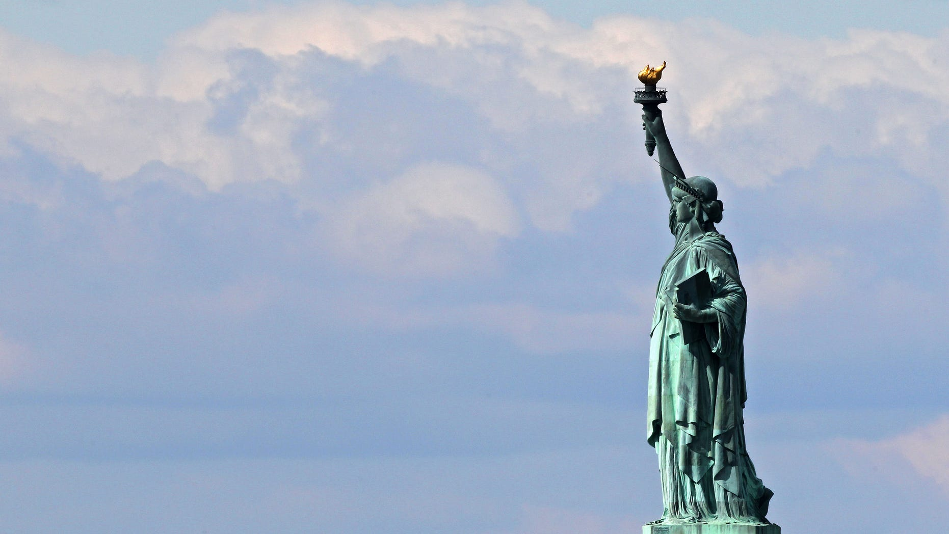 NEW YORK, NY - APRIL 27:  The Statue of Liberty is seen on April 27, 2012 in New York City.  (Photo by Michael Heiman/Getty Images)
