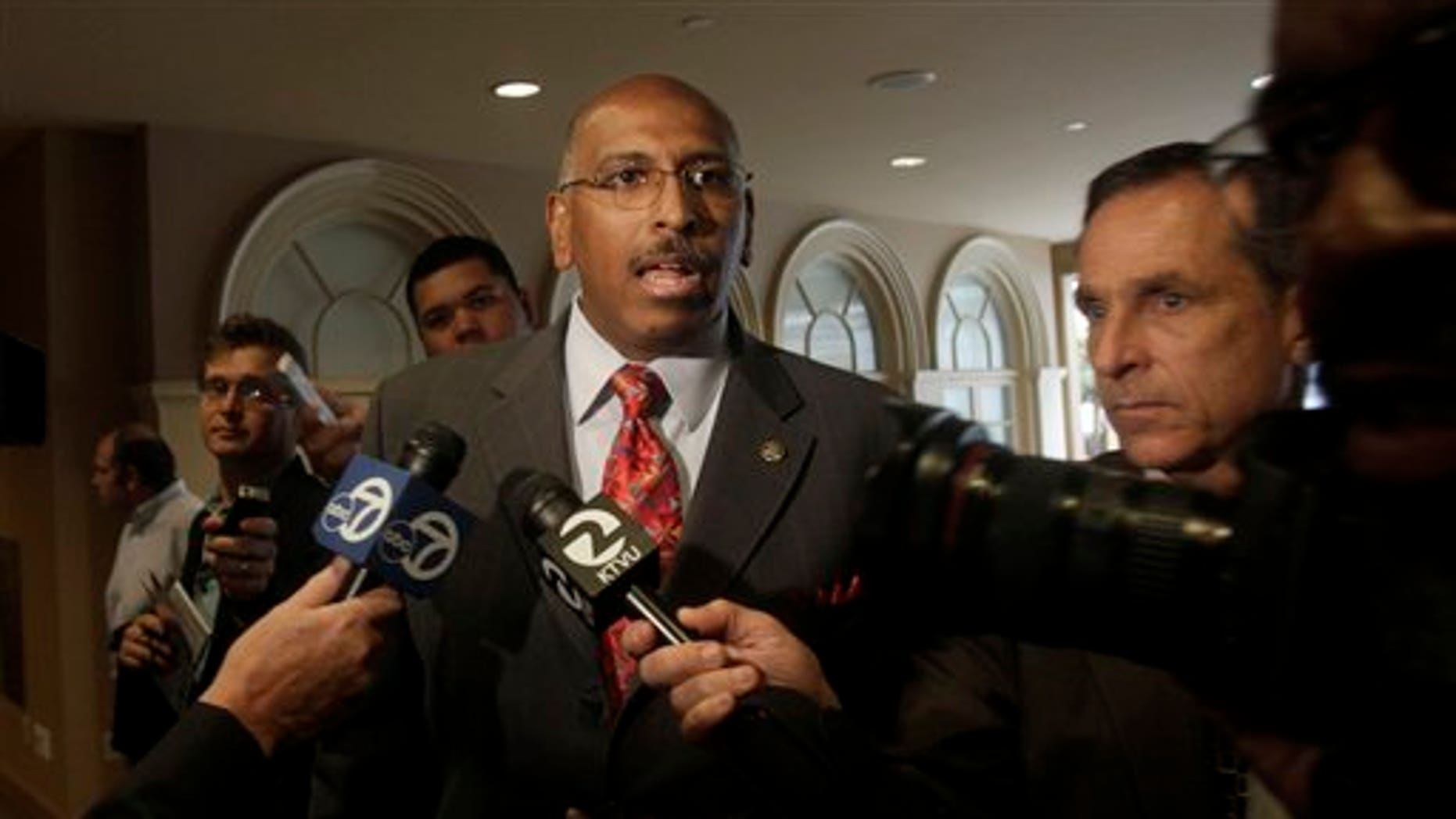 Republican National Committee Chairman Michael Steele answers questions before speaking to the San Francisco Chamber of Commerce in San Francisco June 24. (AP Photo)