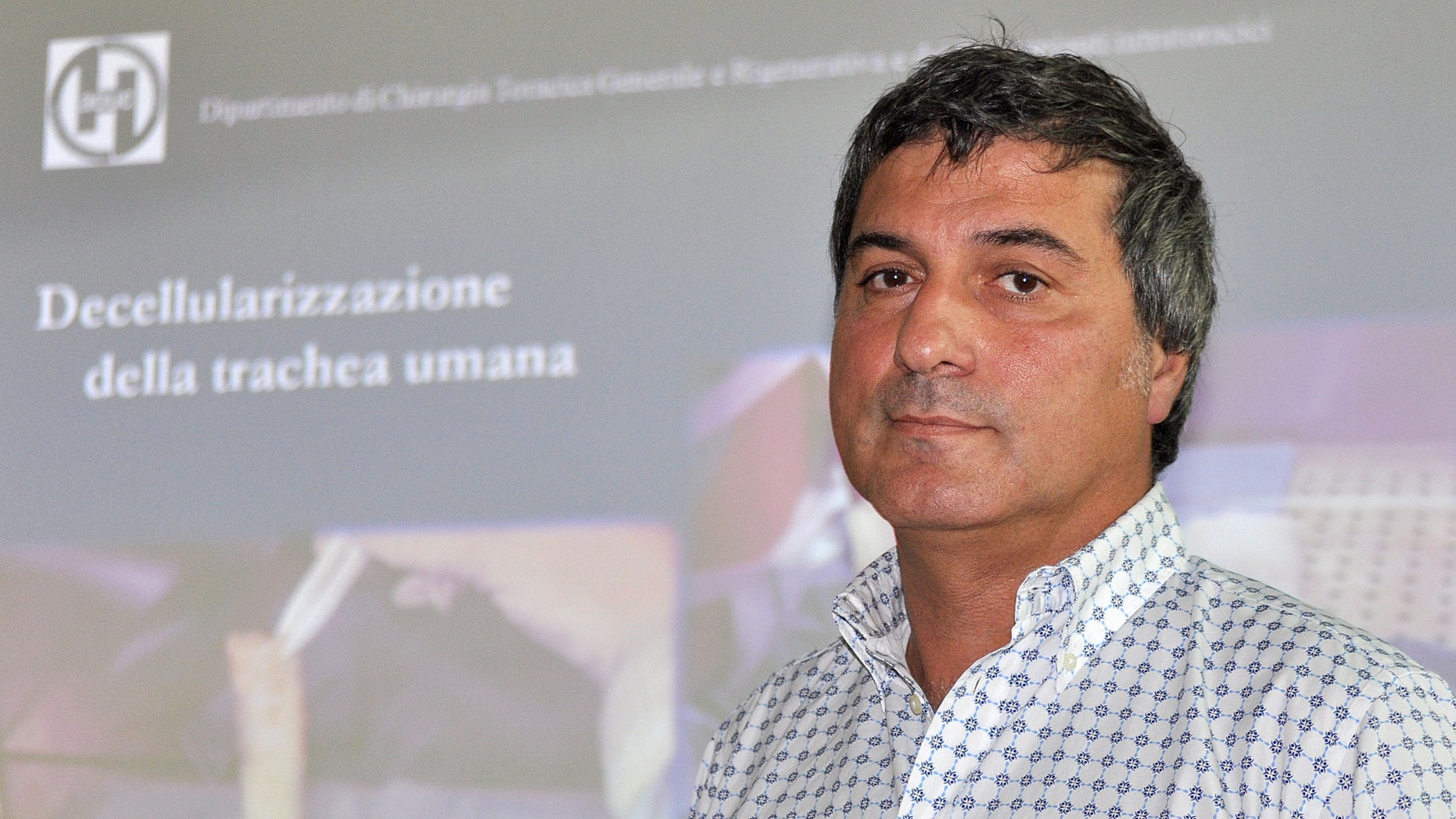 July 30, 2010: In this file photo, Dr. Paolo Macchiarini looks on during a press conference where he announced that his surgical team successfully transplanted the windpipes of two cancer patients with an innovative procedure that uses stem cells to allow a donated trachea to regenerate tissue and create an organ that is biologically close to the original, Florence, Italy.