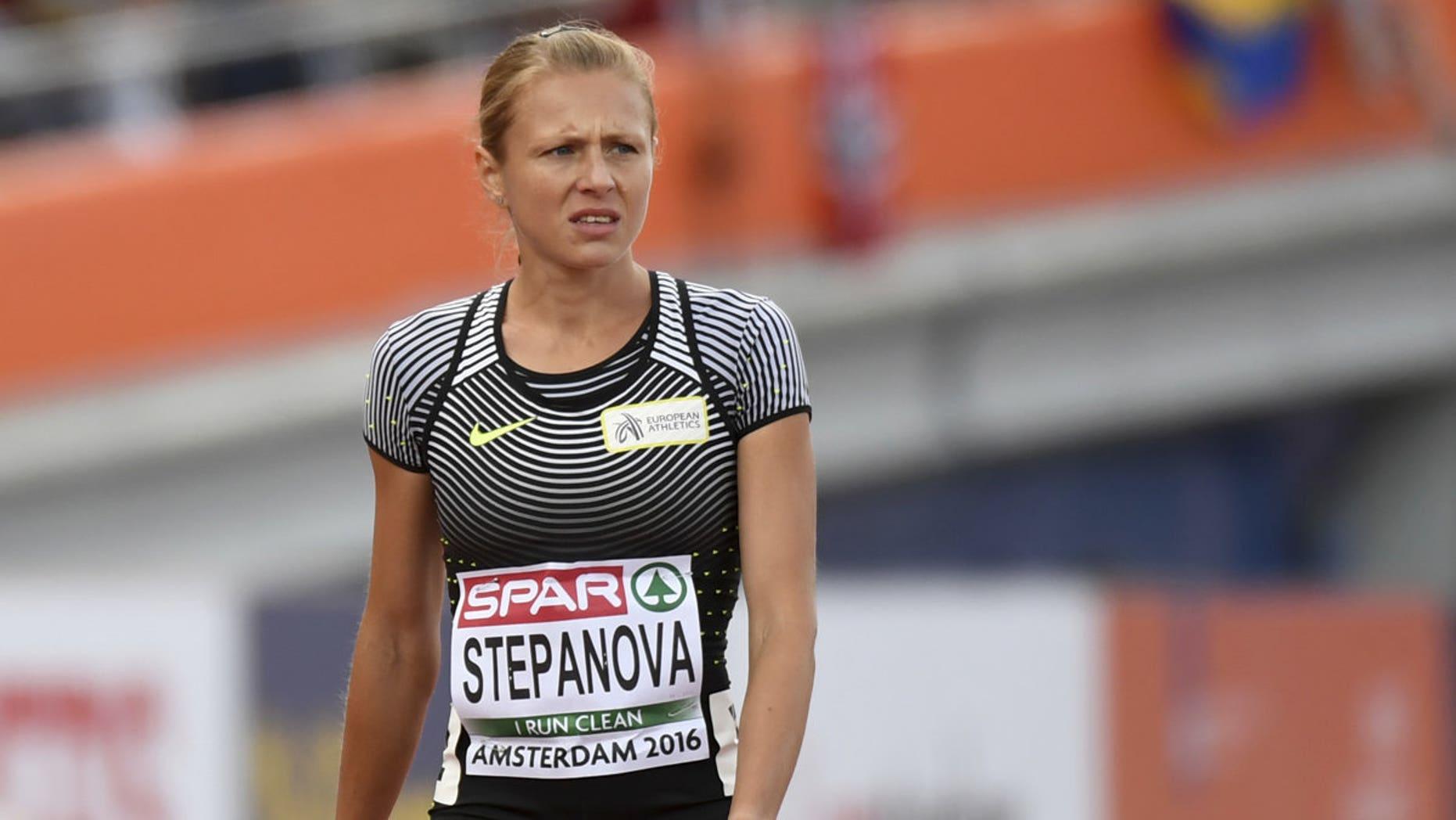 Yulia Stepanova in July 2015.
