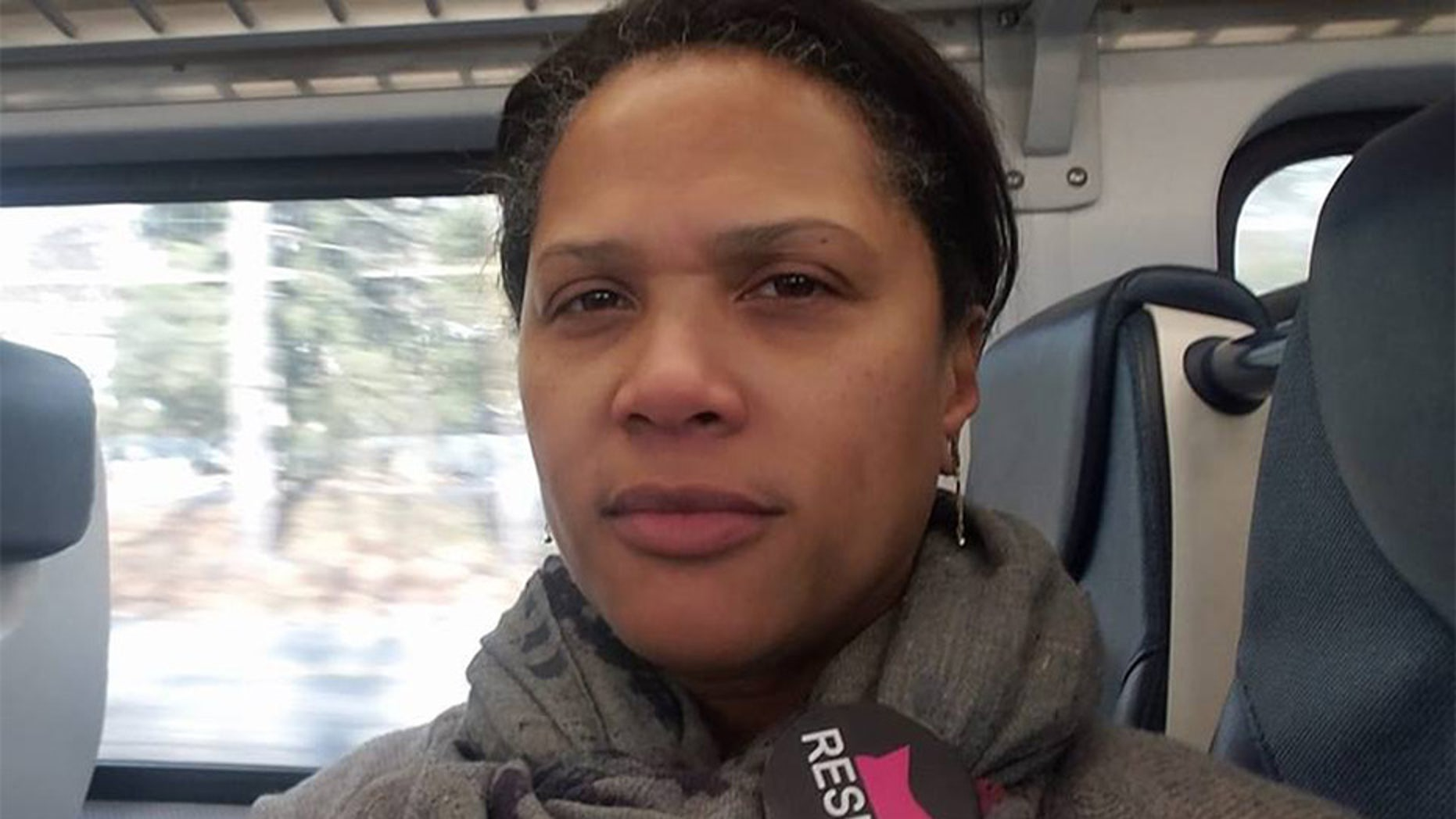 Stephanie Lawson-Muhammad is accused of exercising her 'civic privilege' during a traffic stop on April 27 in South Orange, N.J.