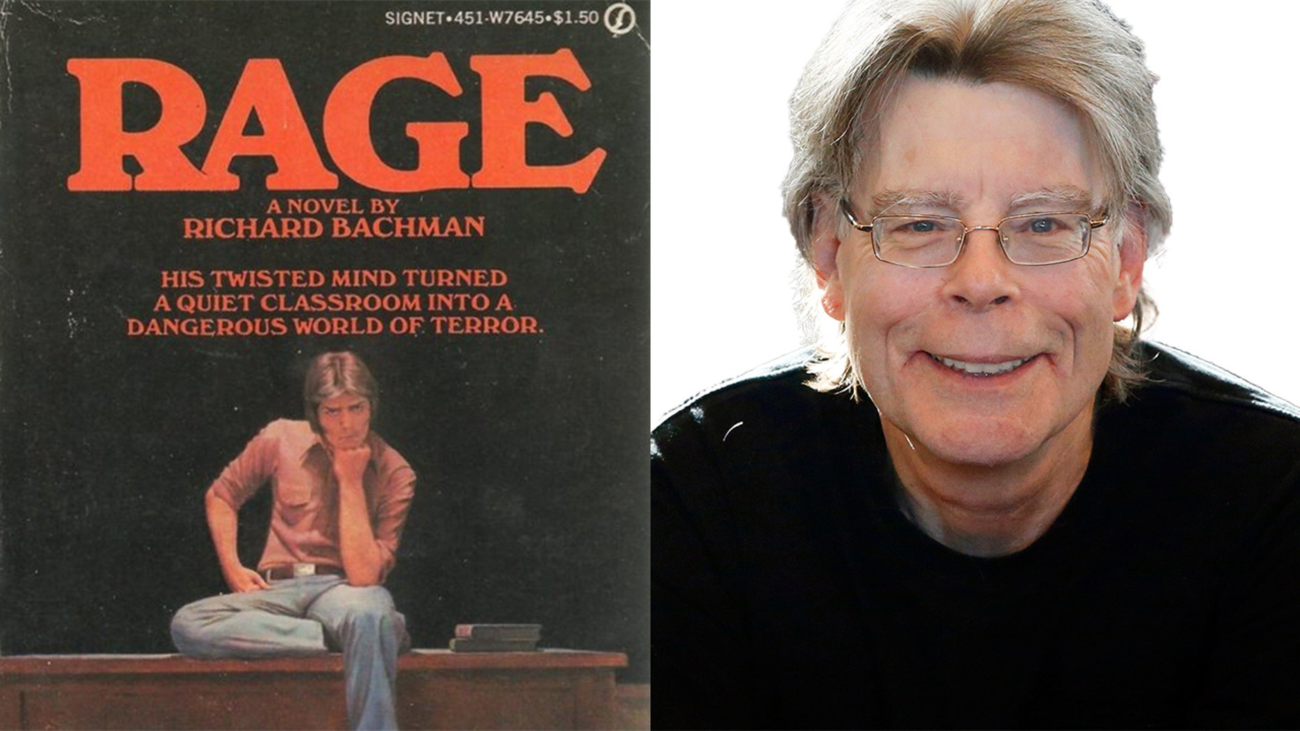 """Author Stephen King stopped selling his controversial book """"Rage,"""" originally published under pen name Richard Bachman, after it inspired several school shooters."""