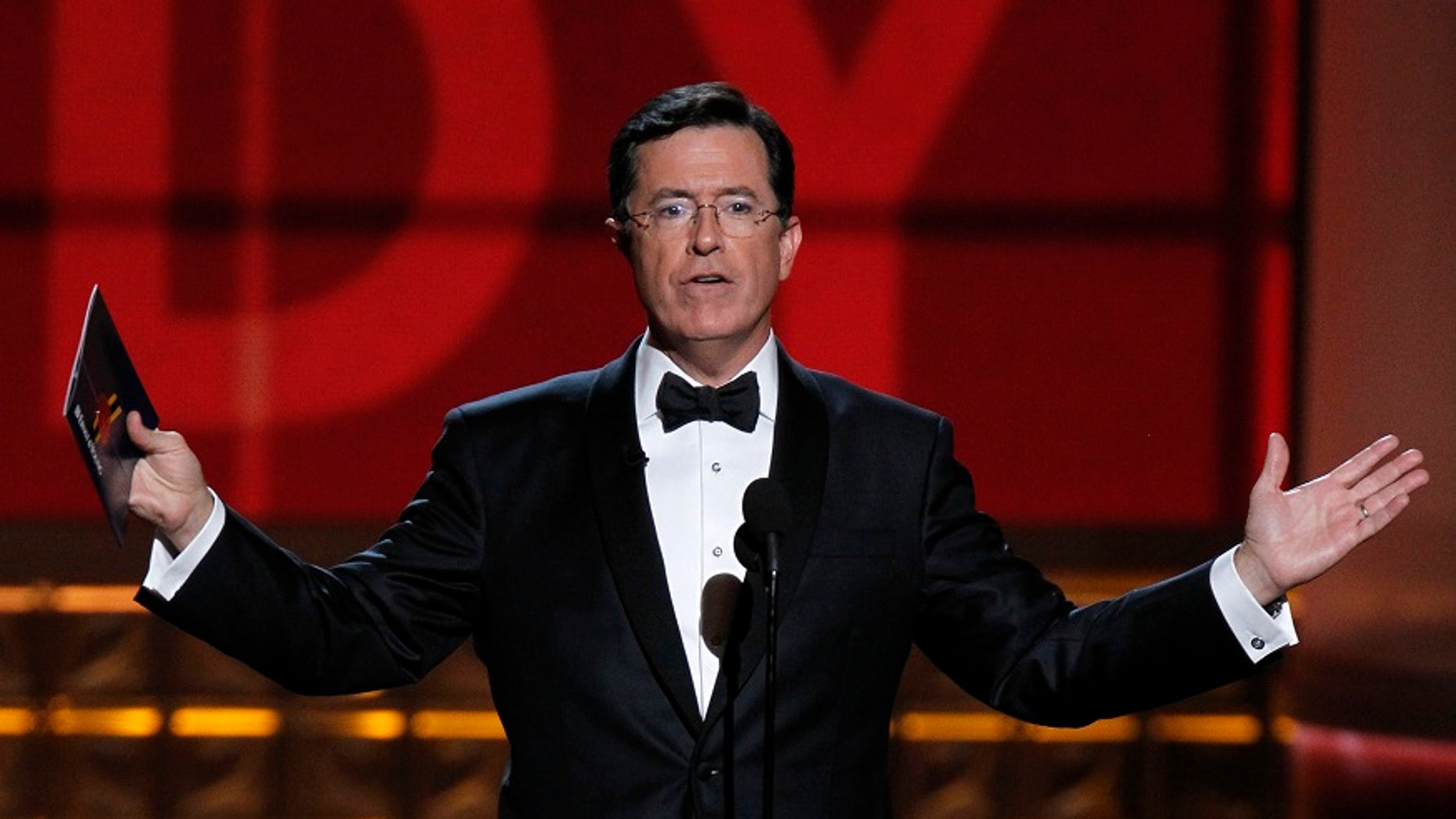 """Late night talk show host Stephen Colbert launched """"Trump attacked me on Twitter hall of fame"""" and has been announcing recipients of the """"award."""""""
