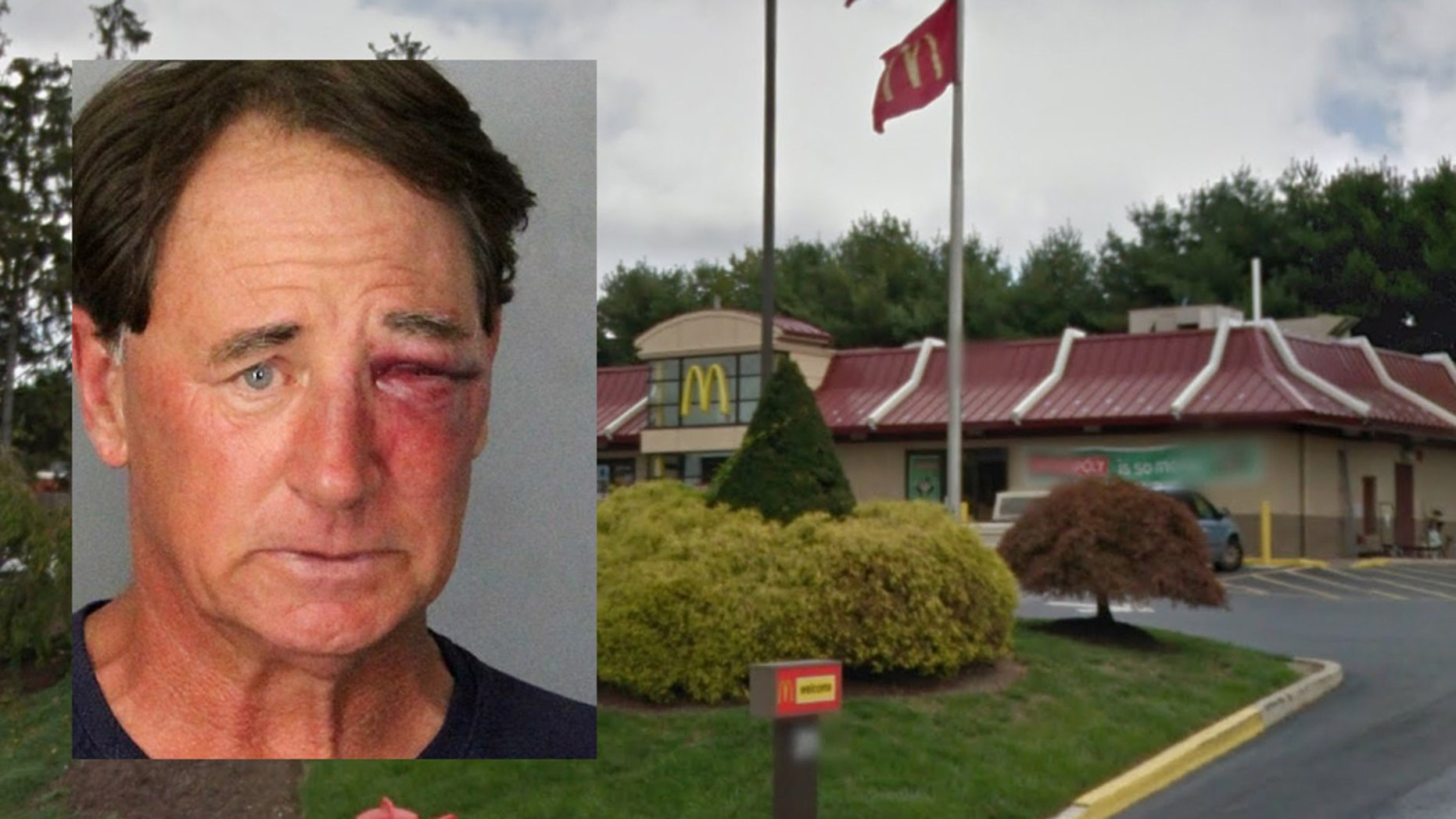 Police say Stephen Mikulcik, of Newark, Del., attacked several people at the McDonald's following an altercation with a woman and her boyfriend.