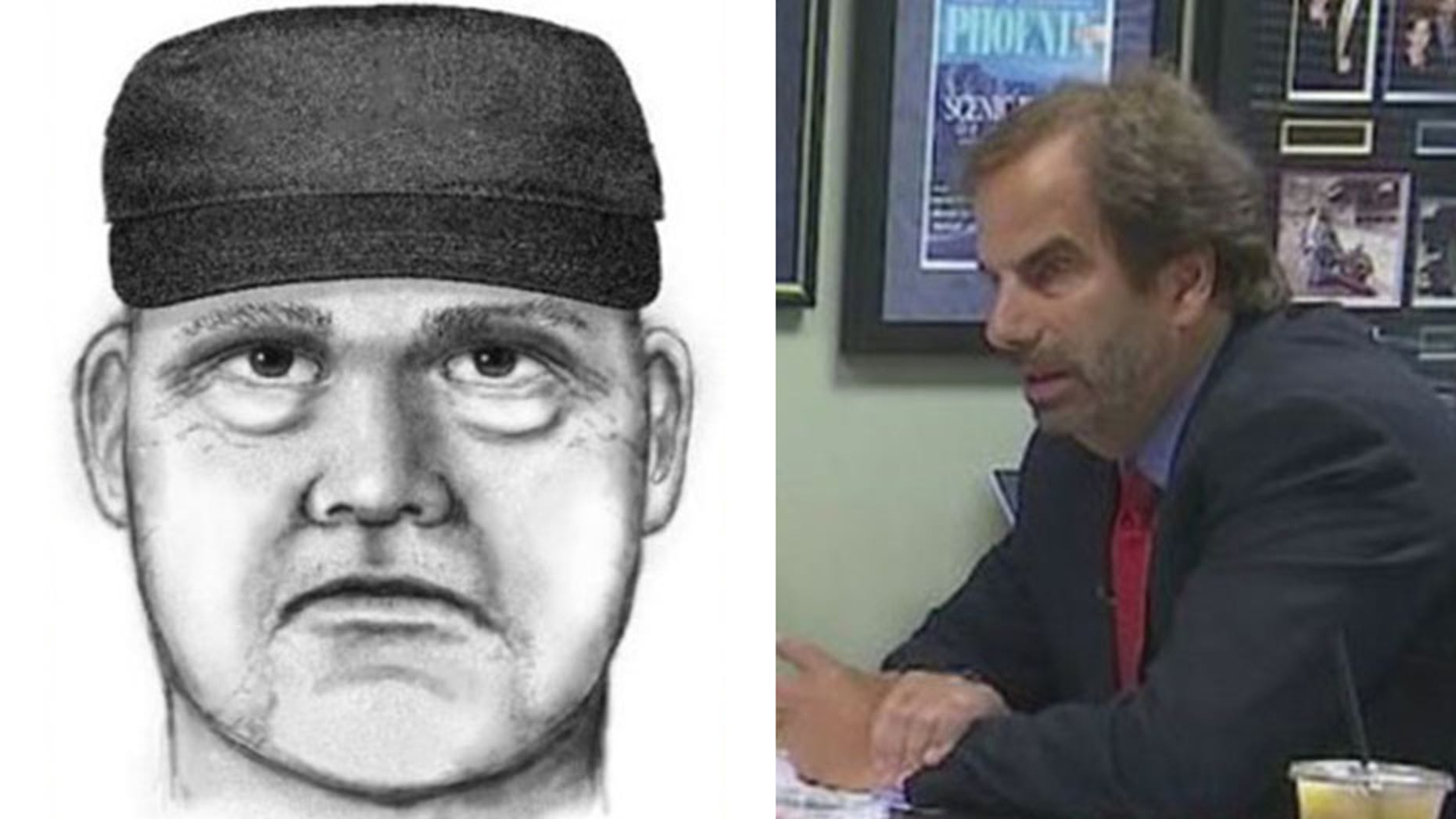 Police have released a sketch of the suspect believed to have killed forensic psychiatrist Steven Pitt outside his office in Scottsdale Thursday.