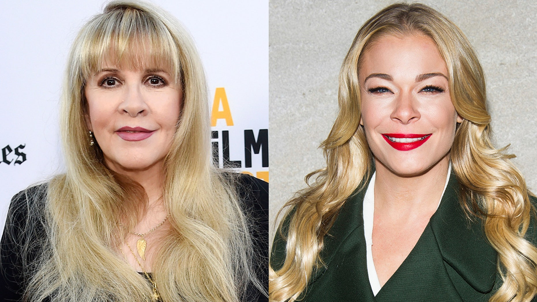 "Stevie Nicks joins LeAnn Rimes for her song ""Borrowed."""